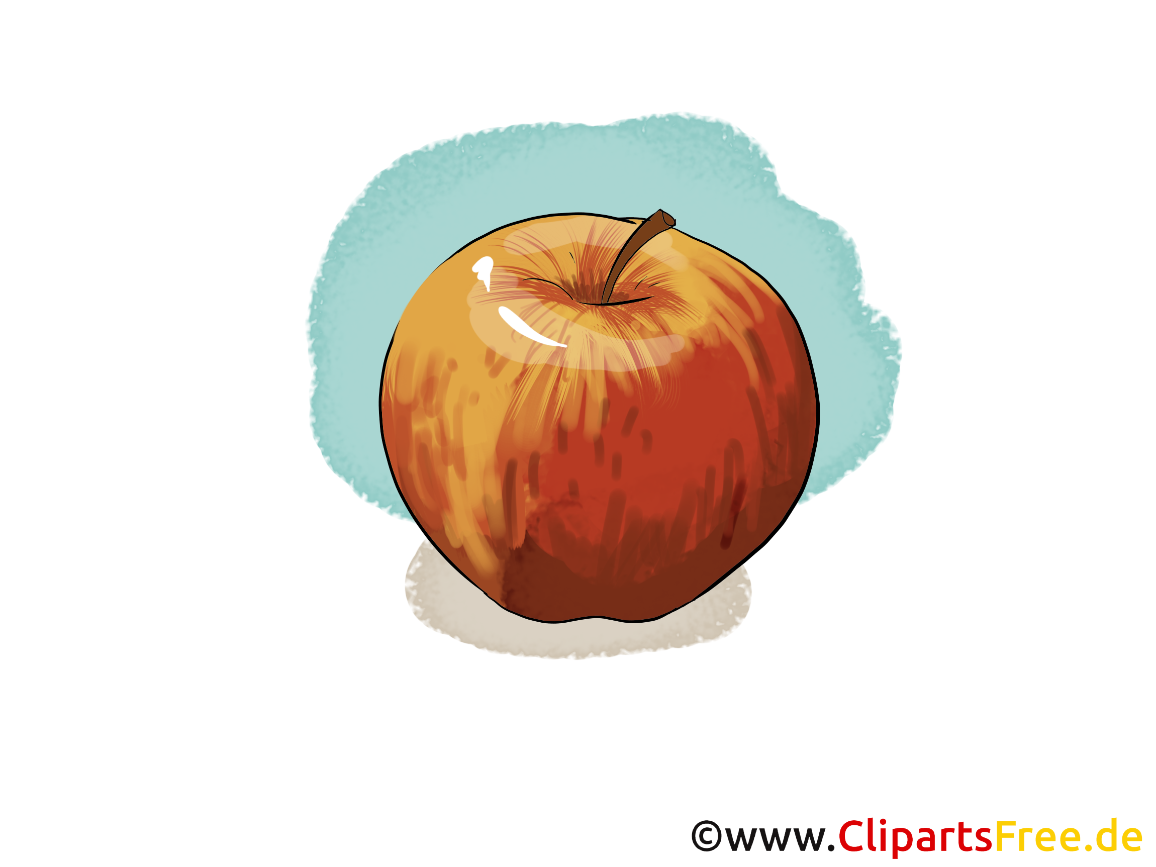 Pomme clip arts gratuits - Fruits illustrations