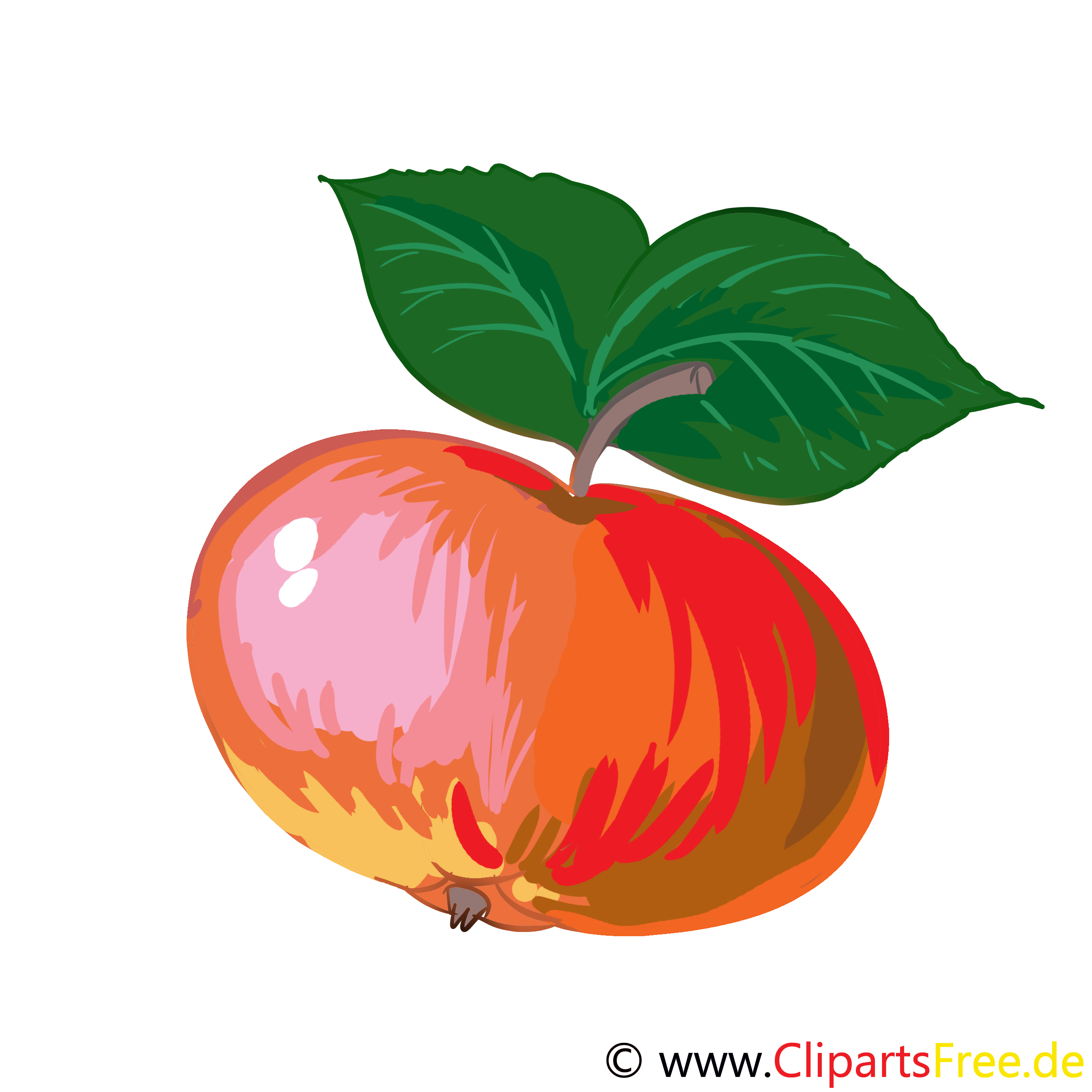 Pomme dessin - Fruits cliparts à télécharger
