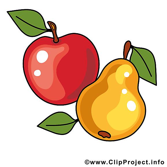 Pomme poire image - Fruits images cliparts
