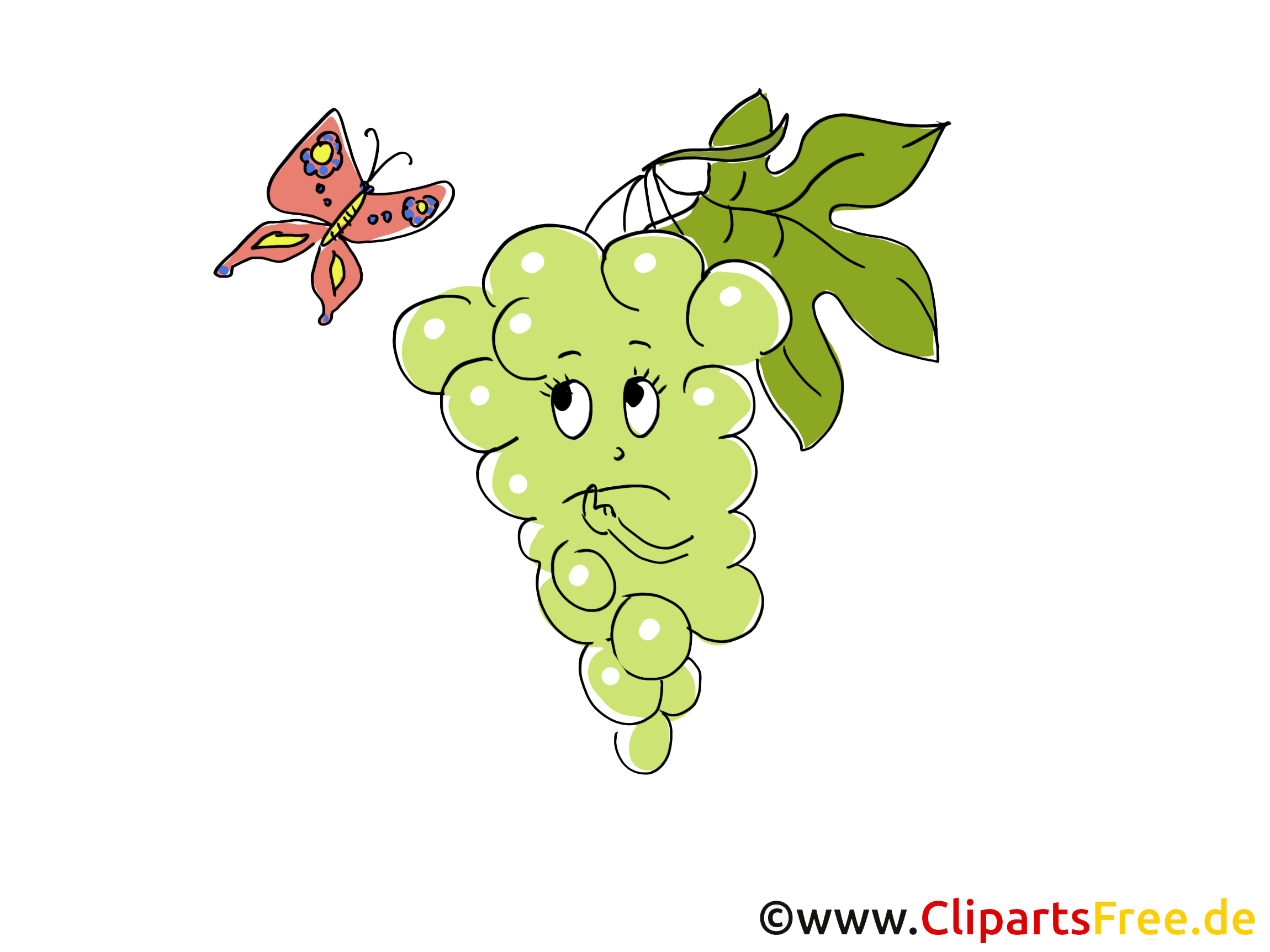 Raisin clip art gratuit – Fruits images