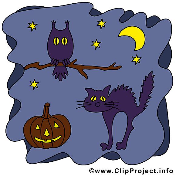 Chat noir clipart - Halloween dessins gratuits