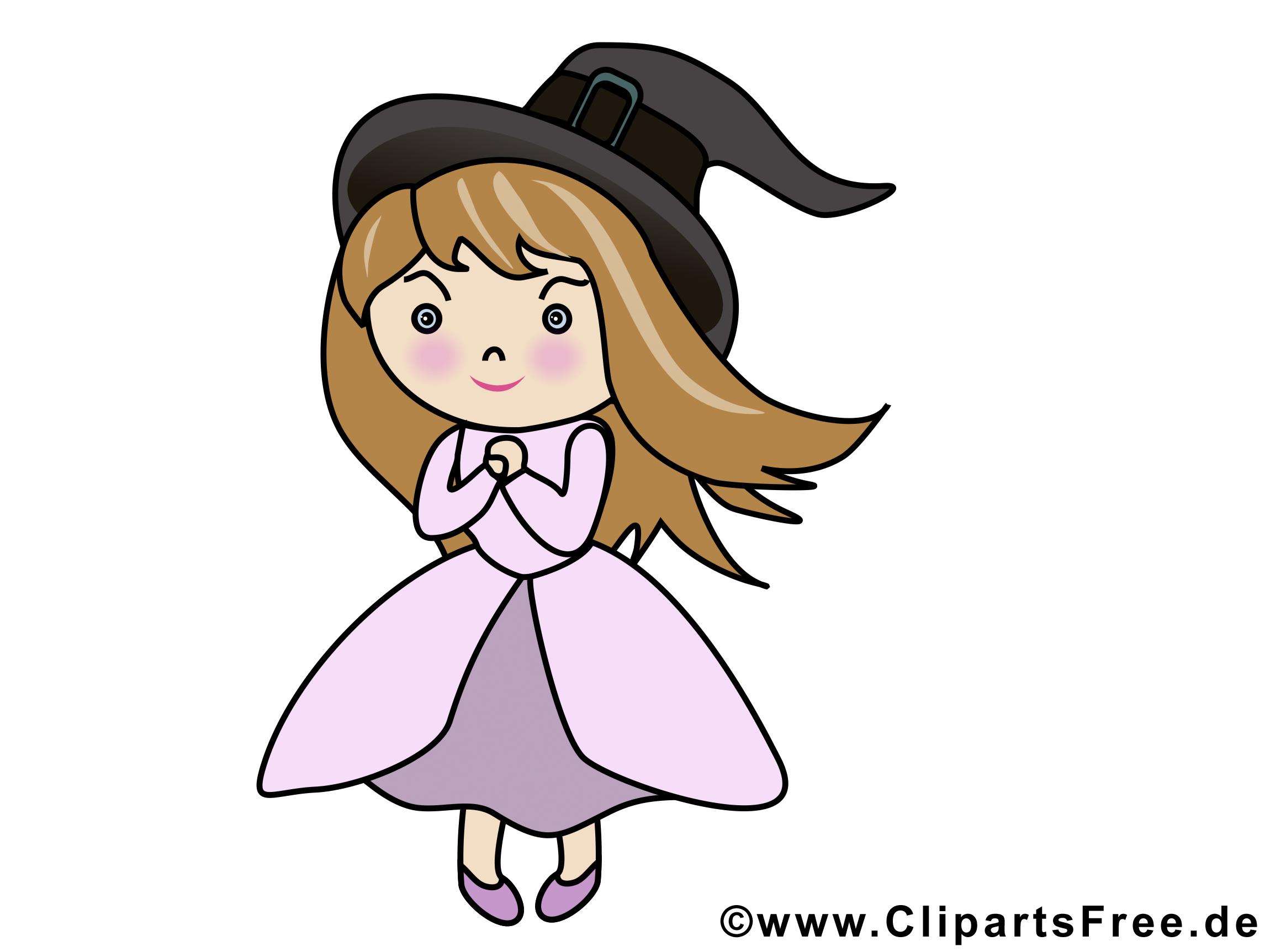Clipart gratuit sorcière - Halloween images