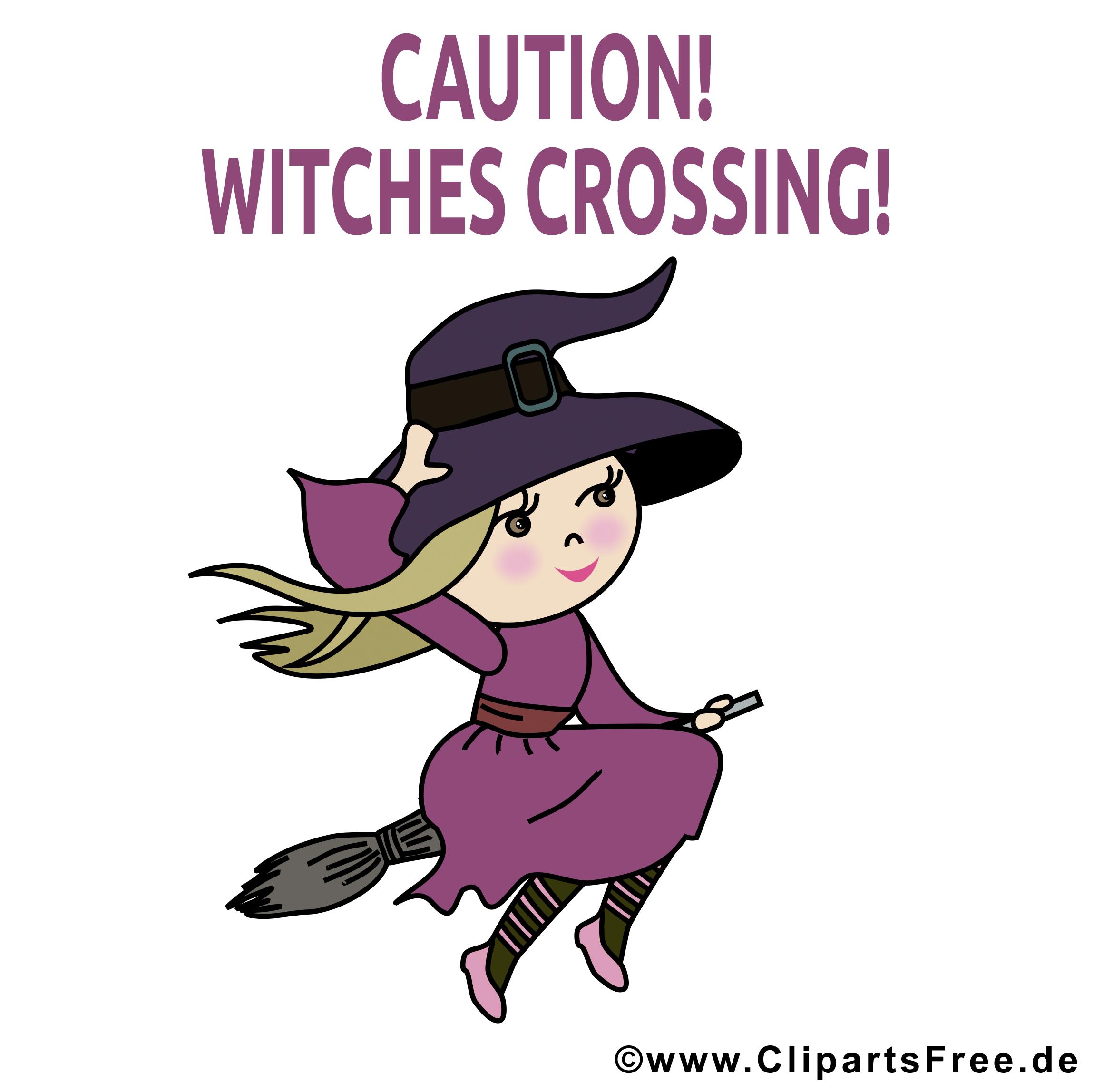 Clipart sorcière - Halloween dessins gratuits