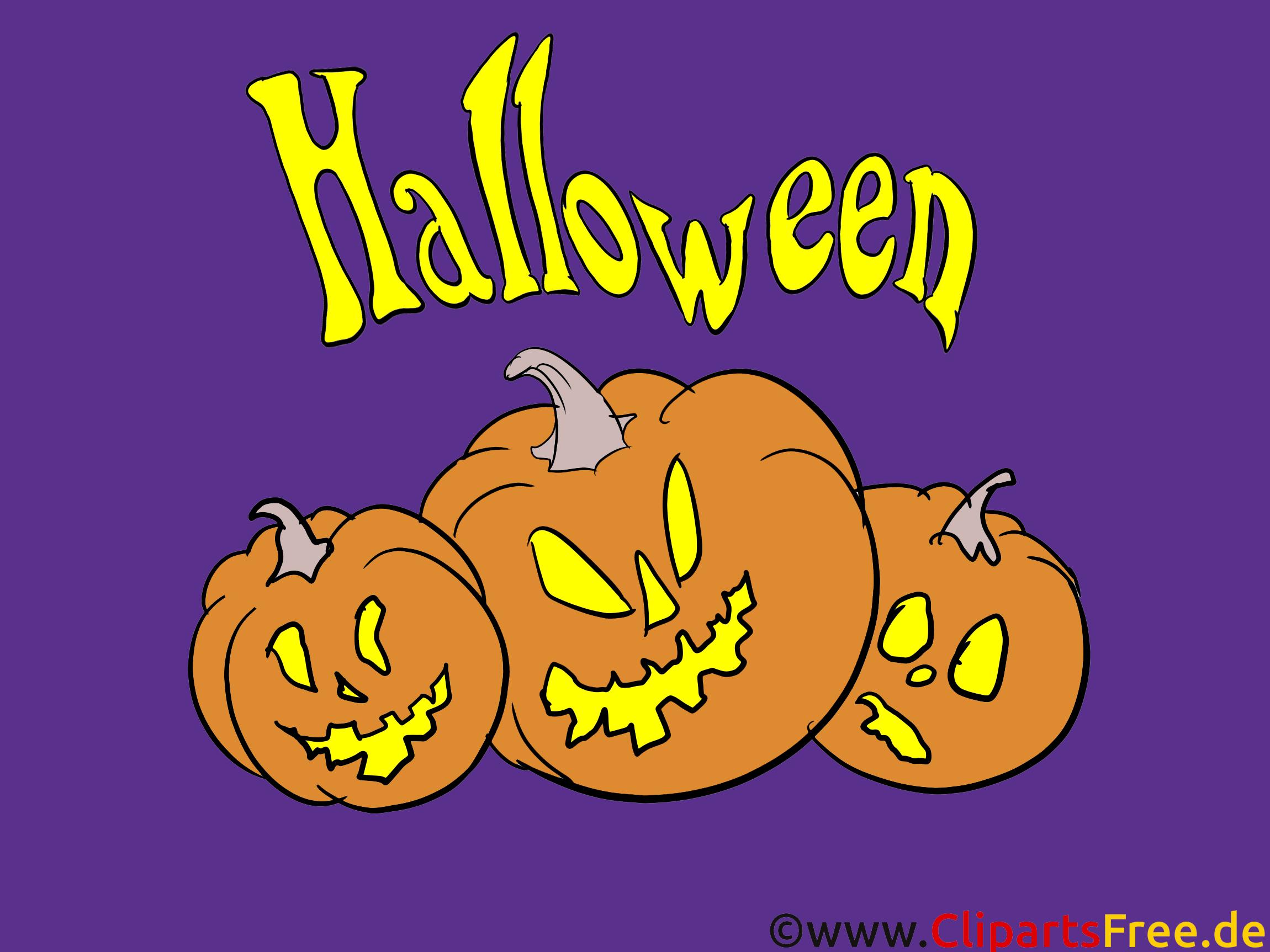 Courges clip arts gratuits - Halloween illustrations