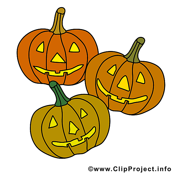 Courges image gratuite – Halloween clipart