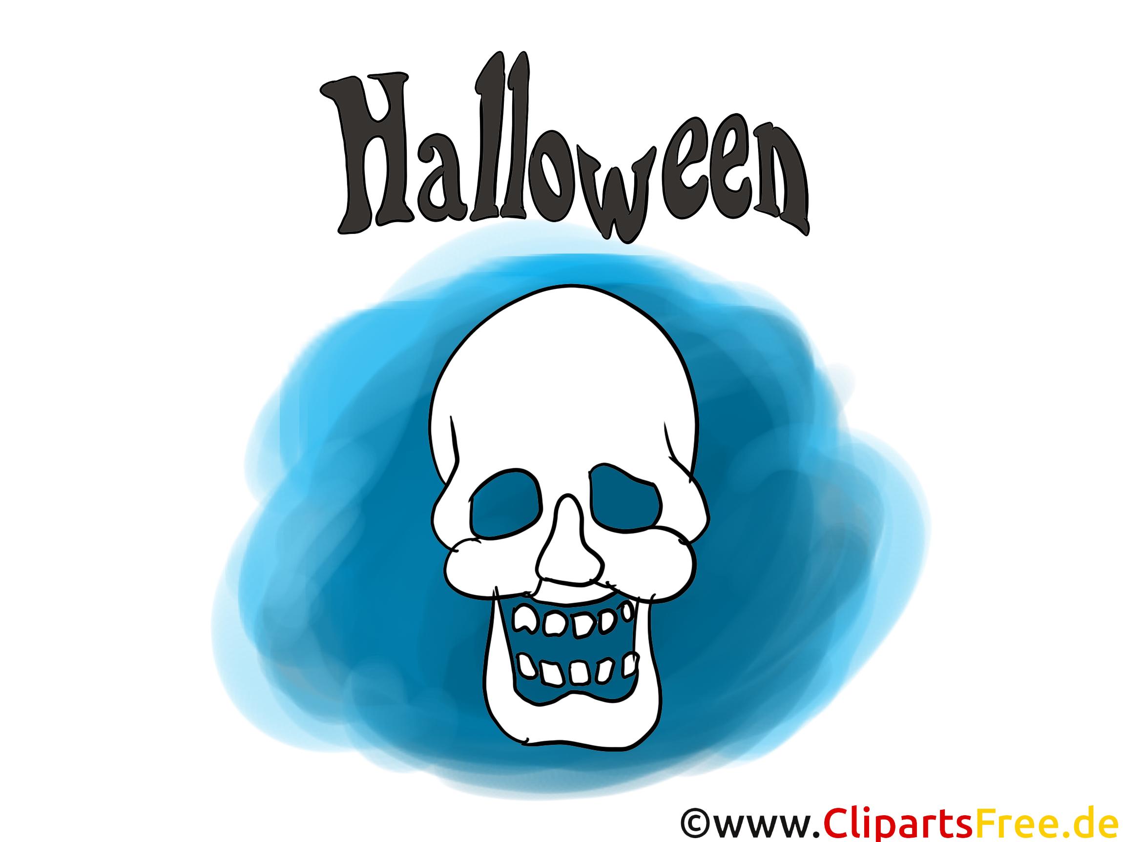 Crâne dessin - Halloween cliparts à télécharger