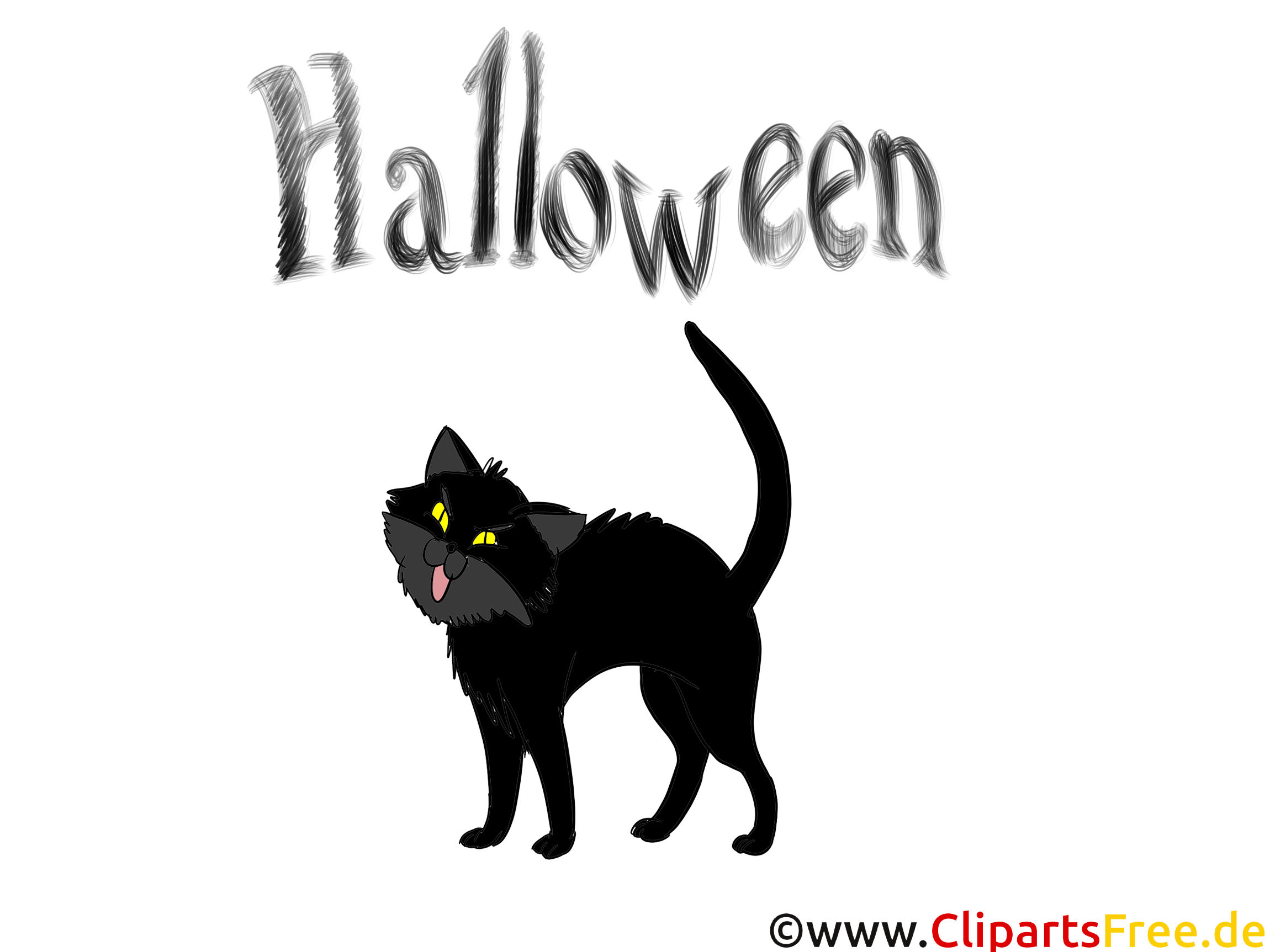 Dessin chat noir halloween cliparts t l charger - Dessin chat halloween ...