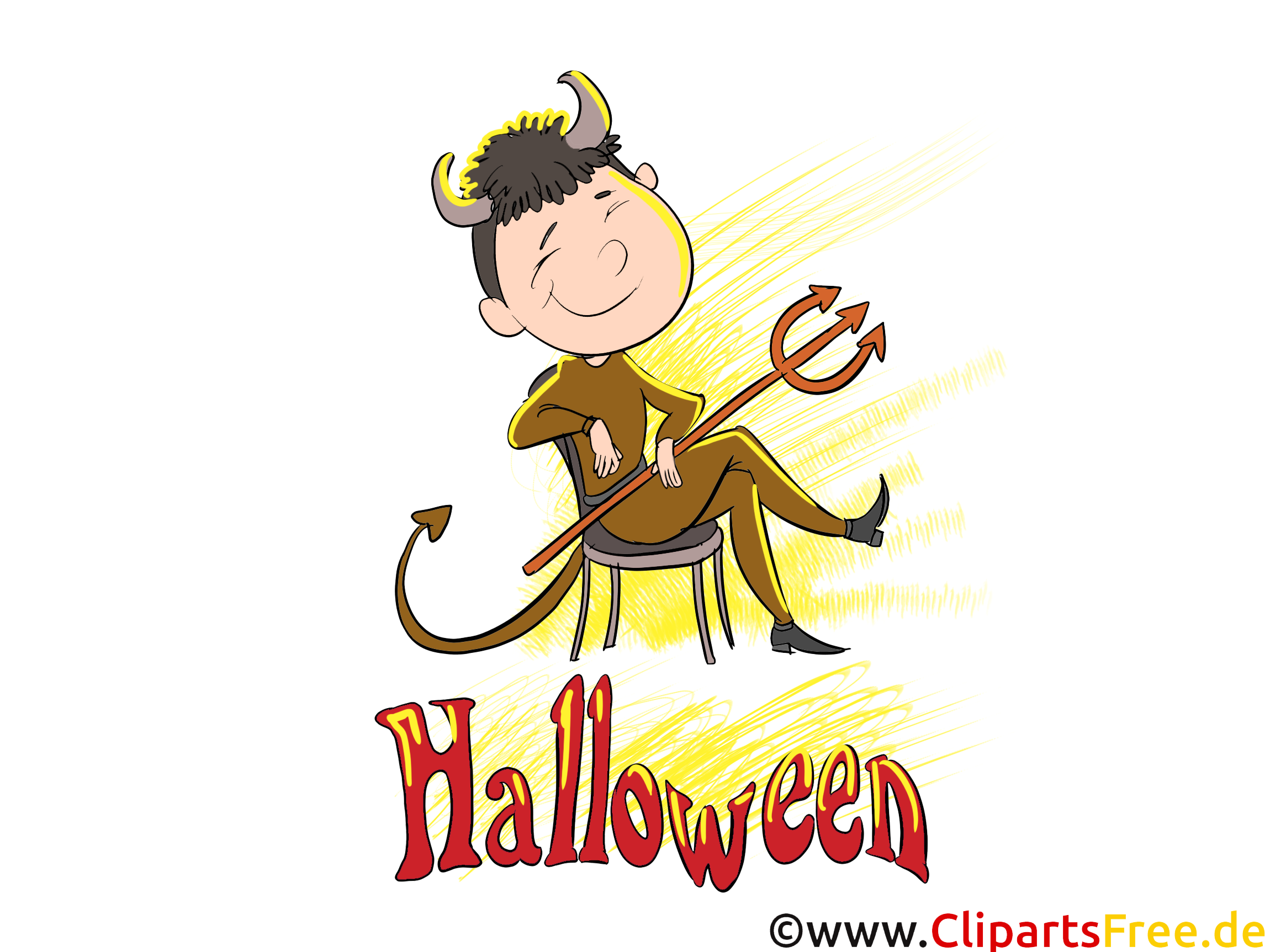 Diable clip art – Halloween gratuite
