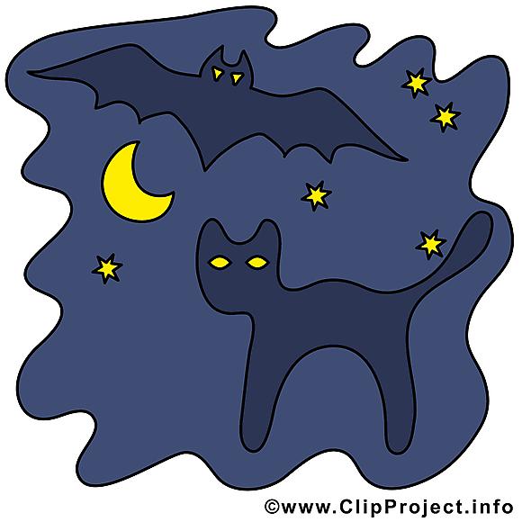 Halloween chat image à télécharger gratuite