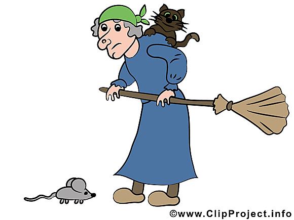 Halloween illustration vieille sorcière gratuite