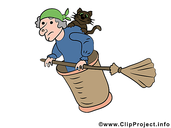 Image gratuite Baba yaga - Halloween illustration