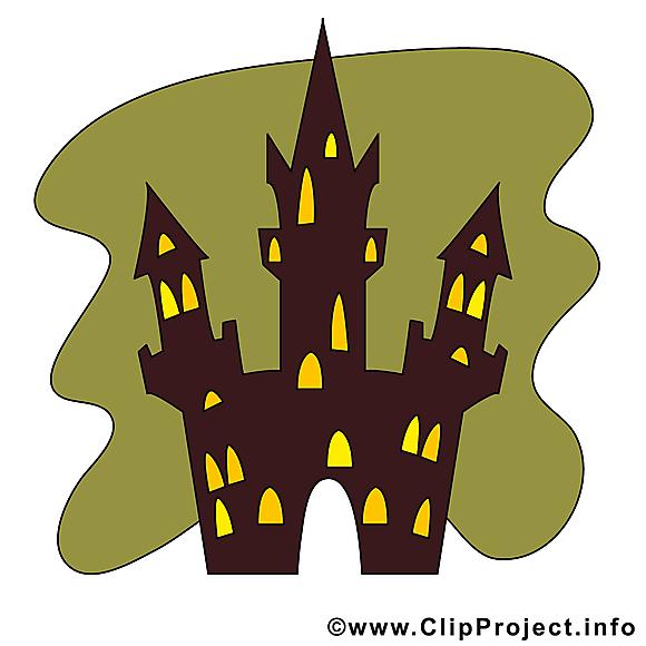 Images château - Halloween clip art gratuit
