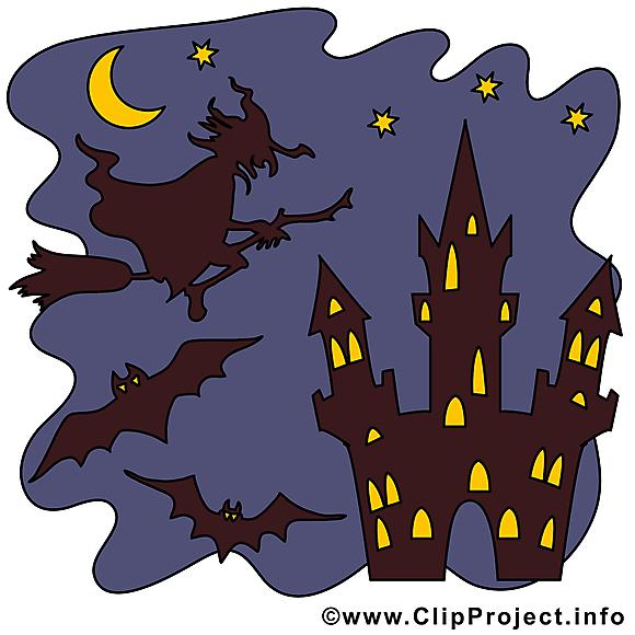 Nuit château image à télécharger - Halloween clipart