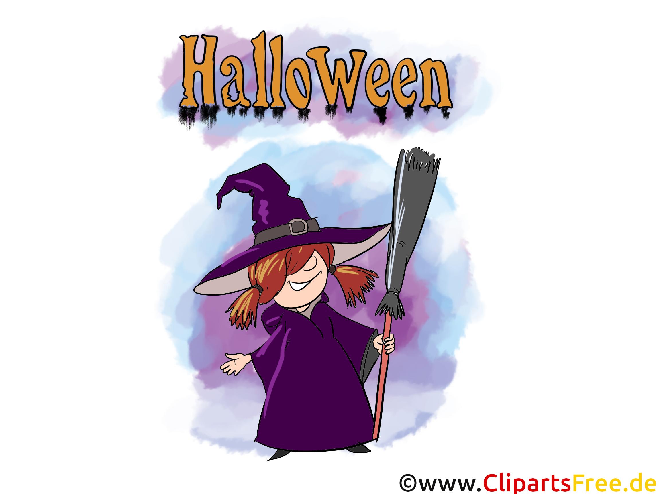 Sorcière clip arts gratuits - Halloween illustrations