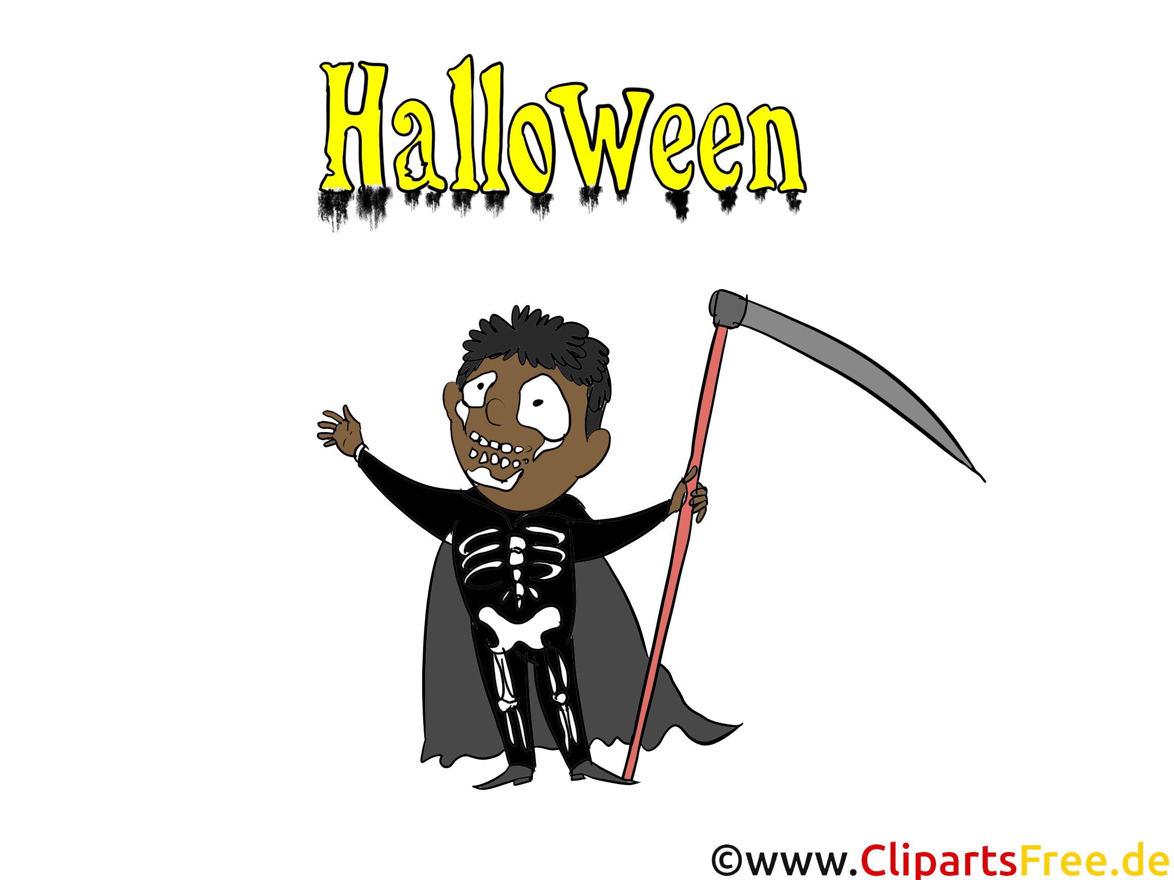 Squelette dessin à télécharger - Halloween images