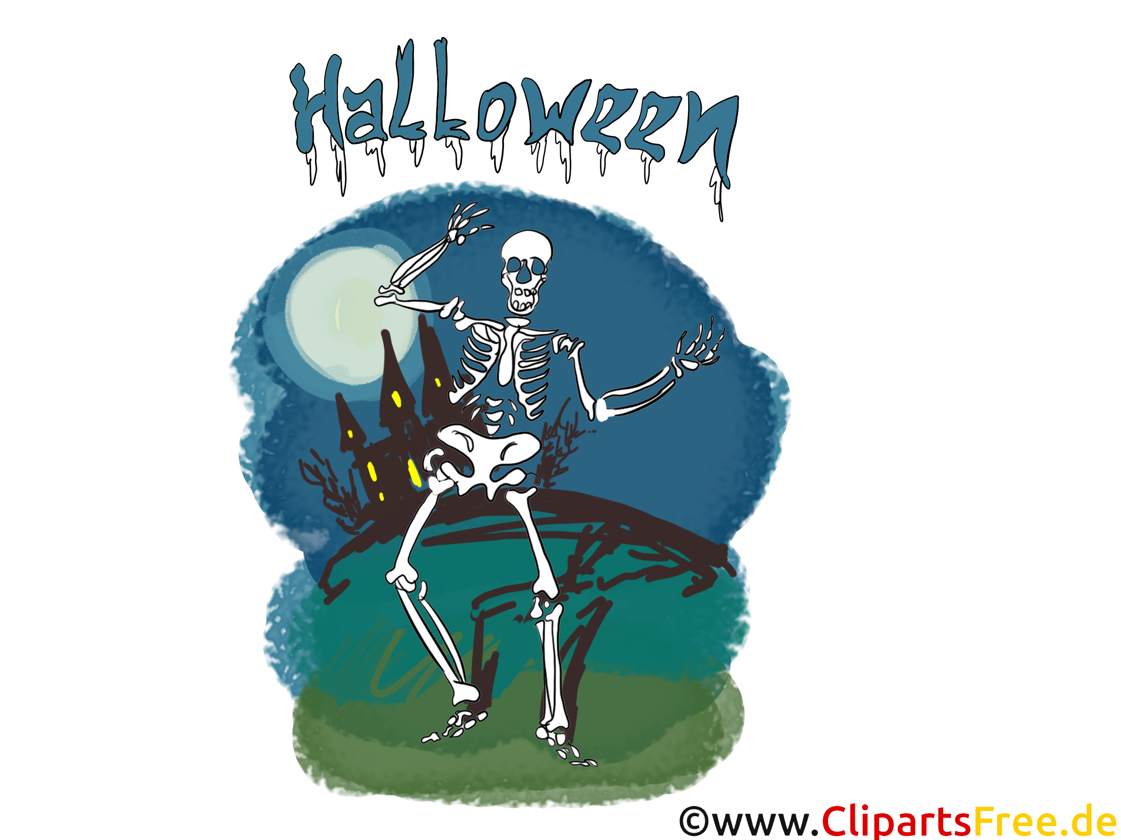 Squelette halloween image à télécharger gratuite