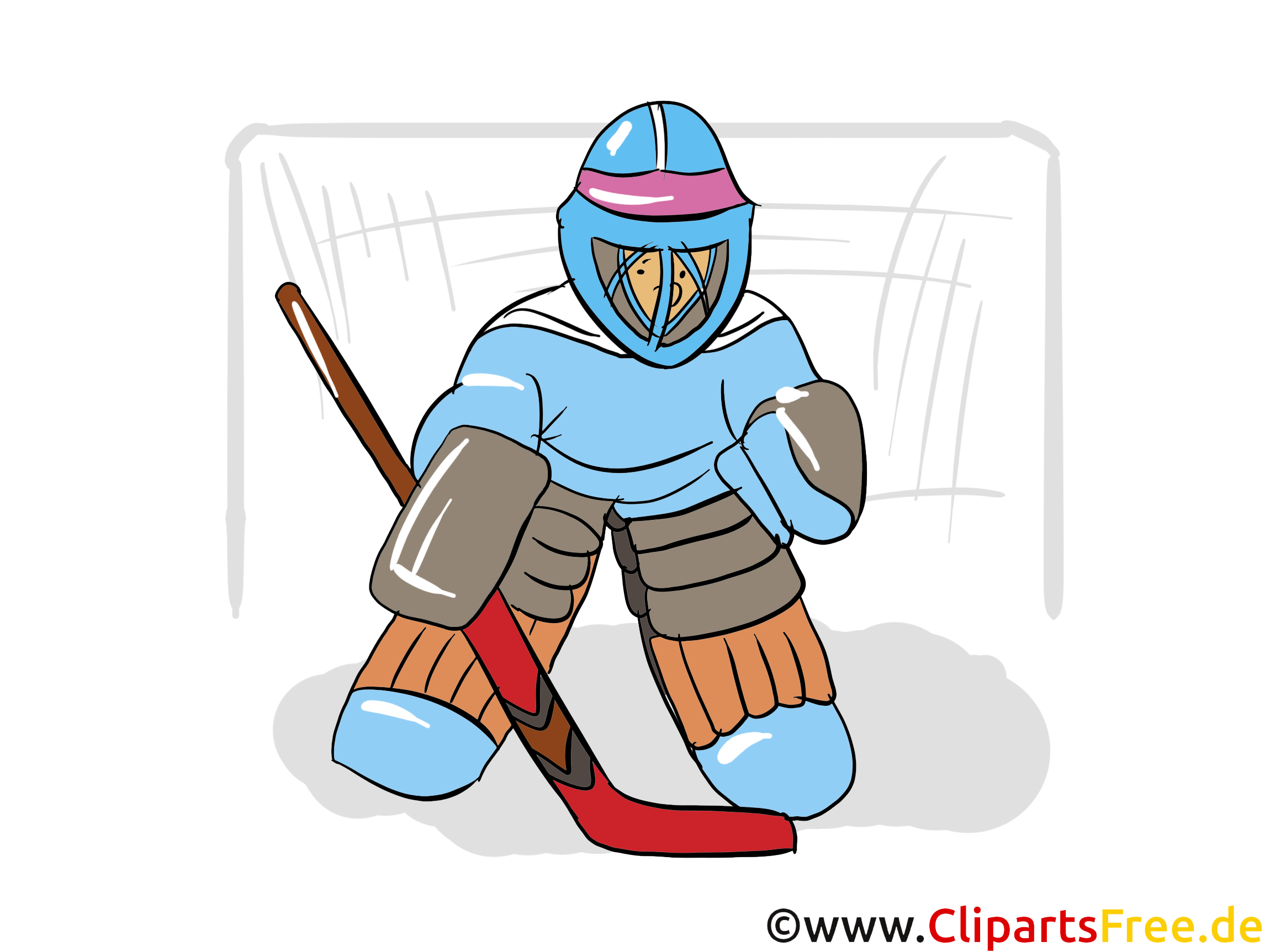 Clipart gratuit gardien de but - Hockey images
