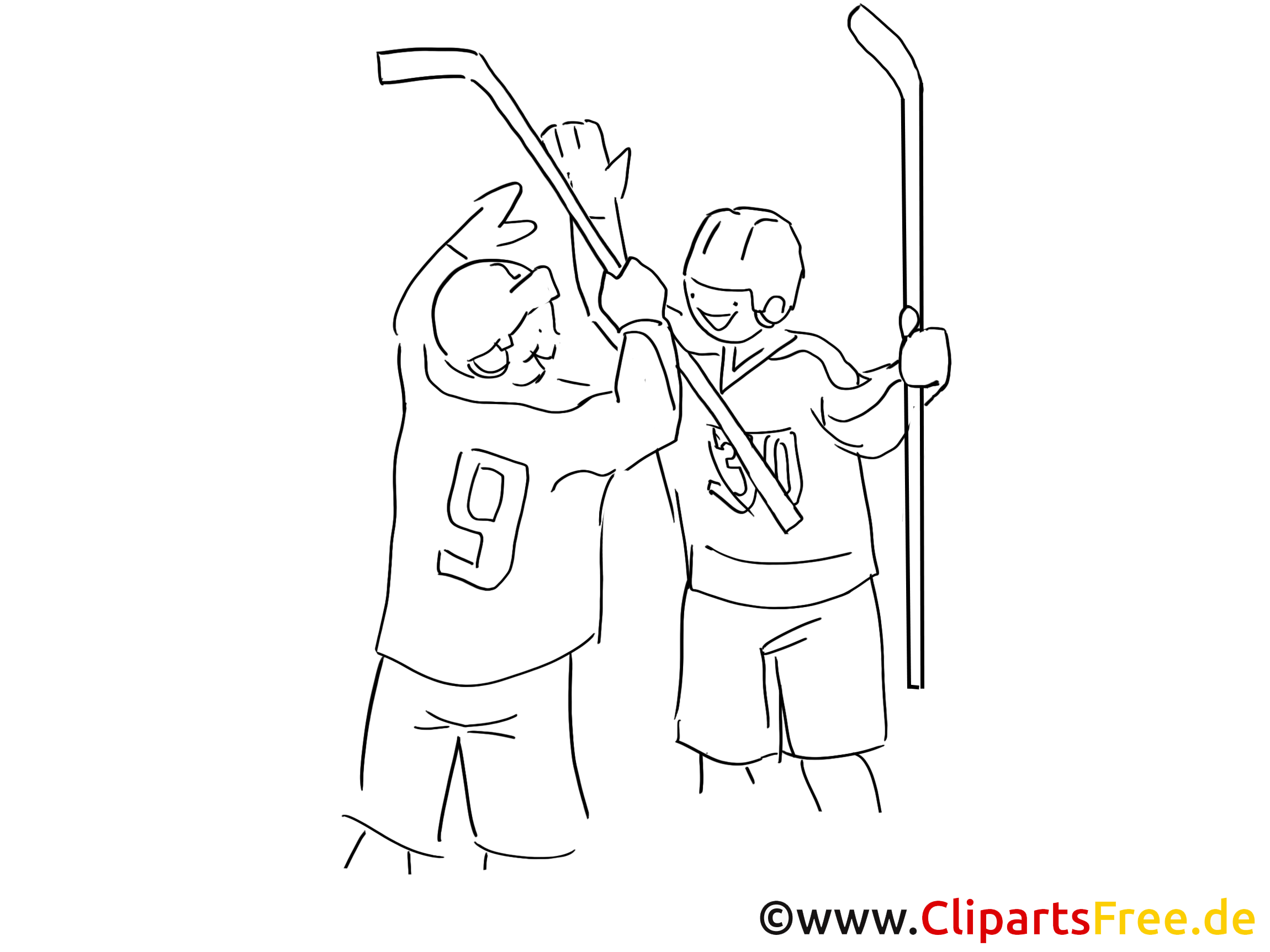 Gagnants images à colorier - Hockey dessins gratuits