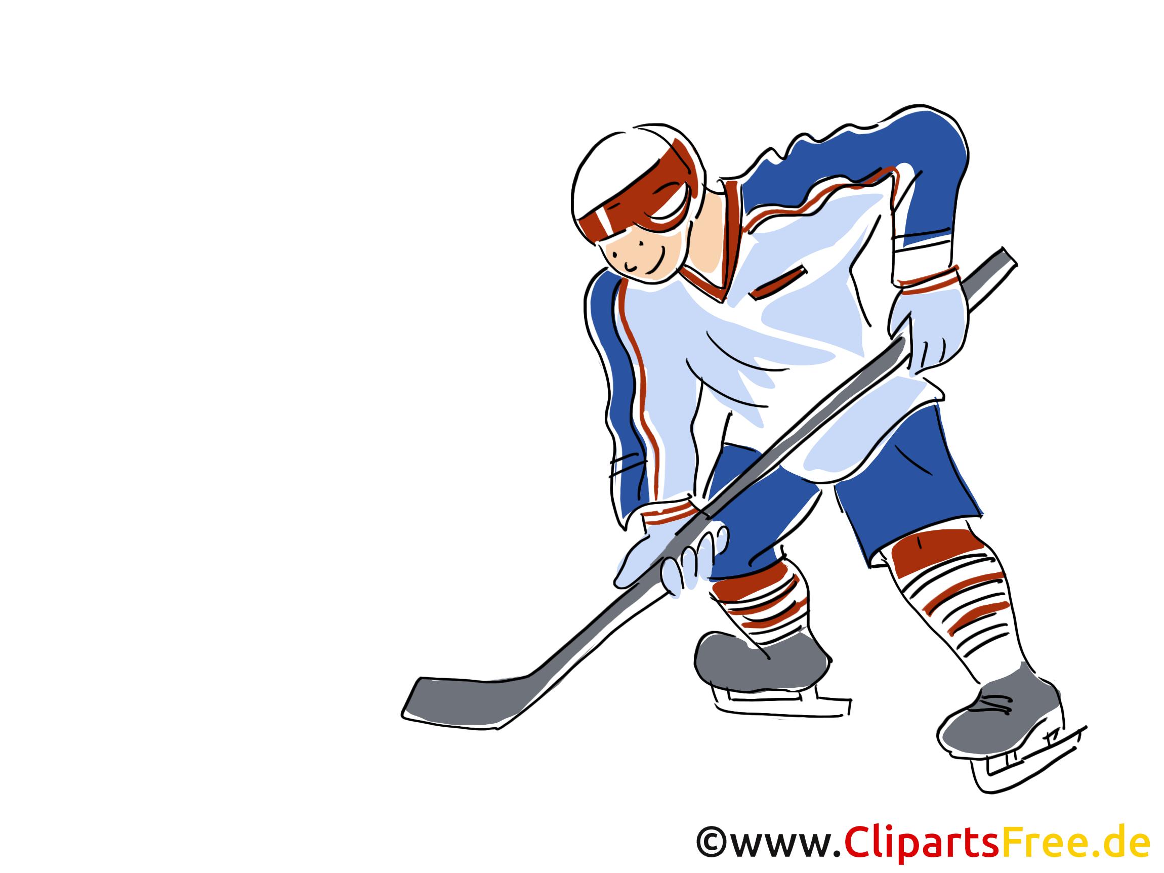 Joueur clip art gratuit - Hockey dessin