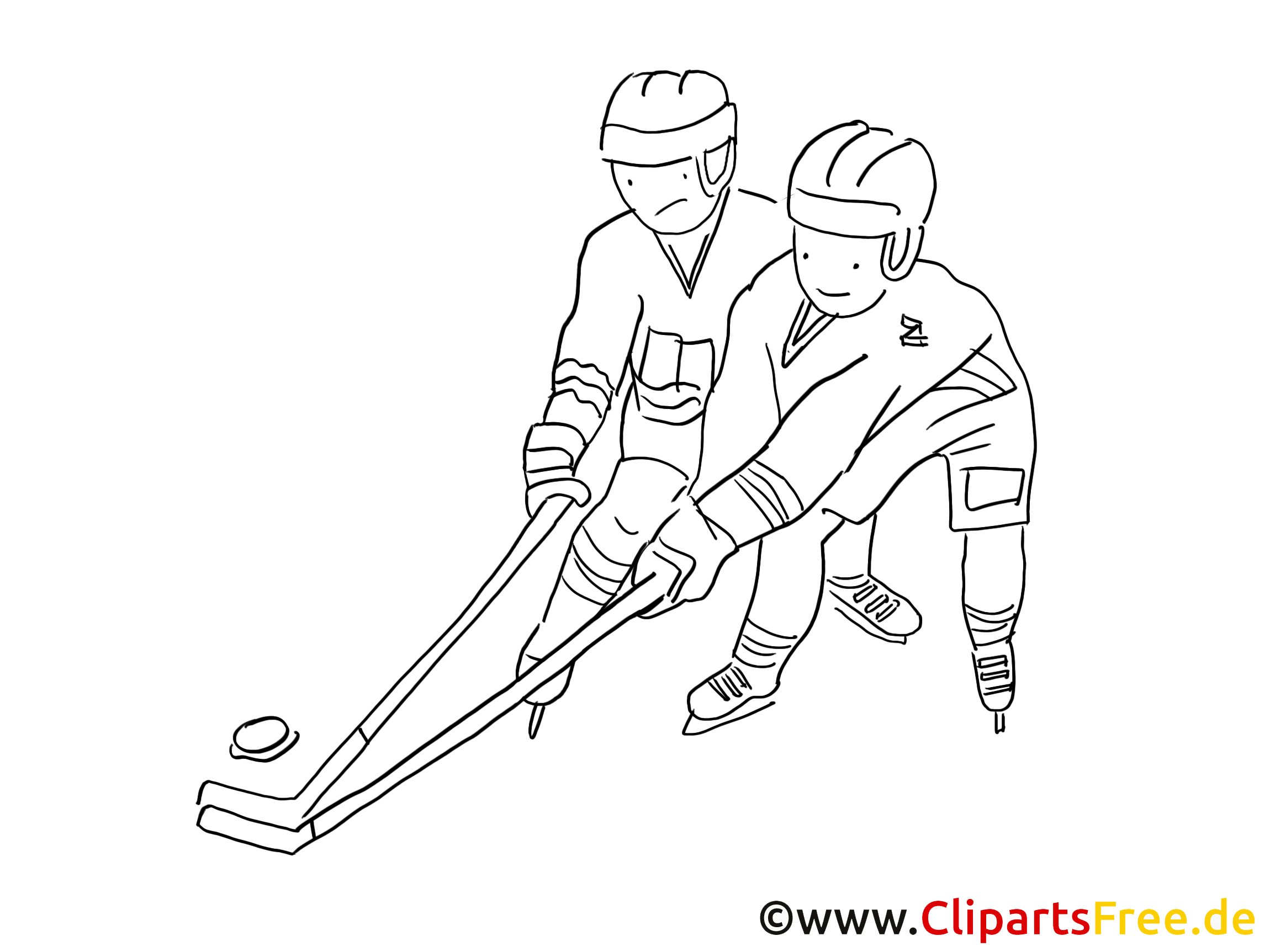 Joueurs dessin à colorier - Hockey à télécharger