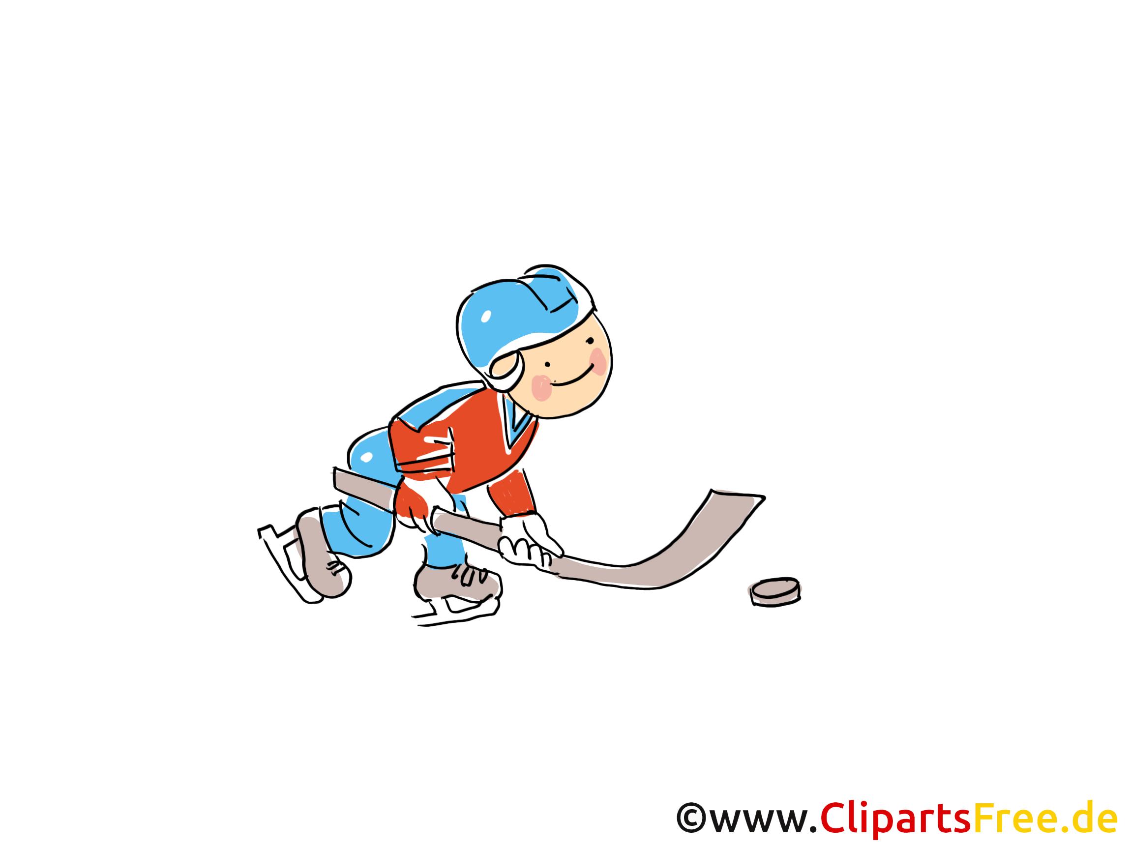 Petit hockeyeur dessins gratuits - Hockey clipart