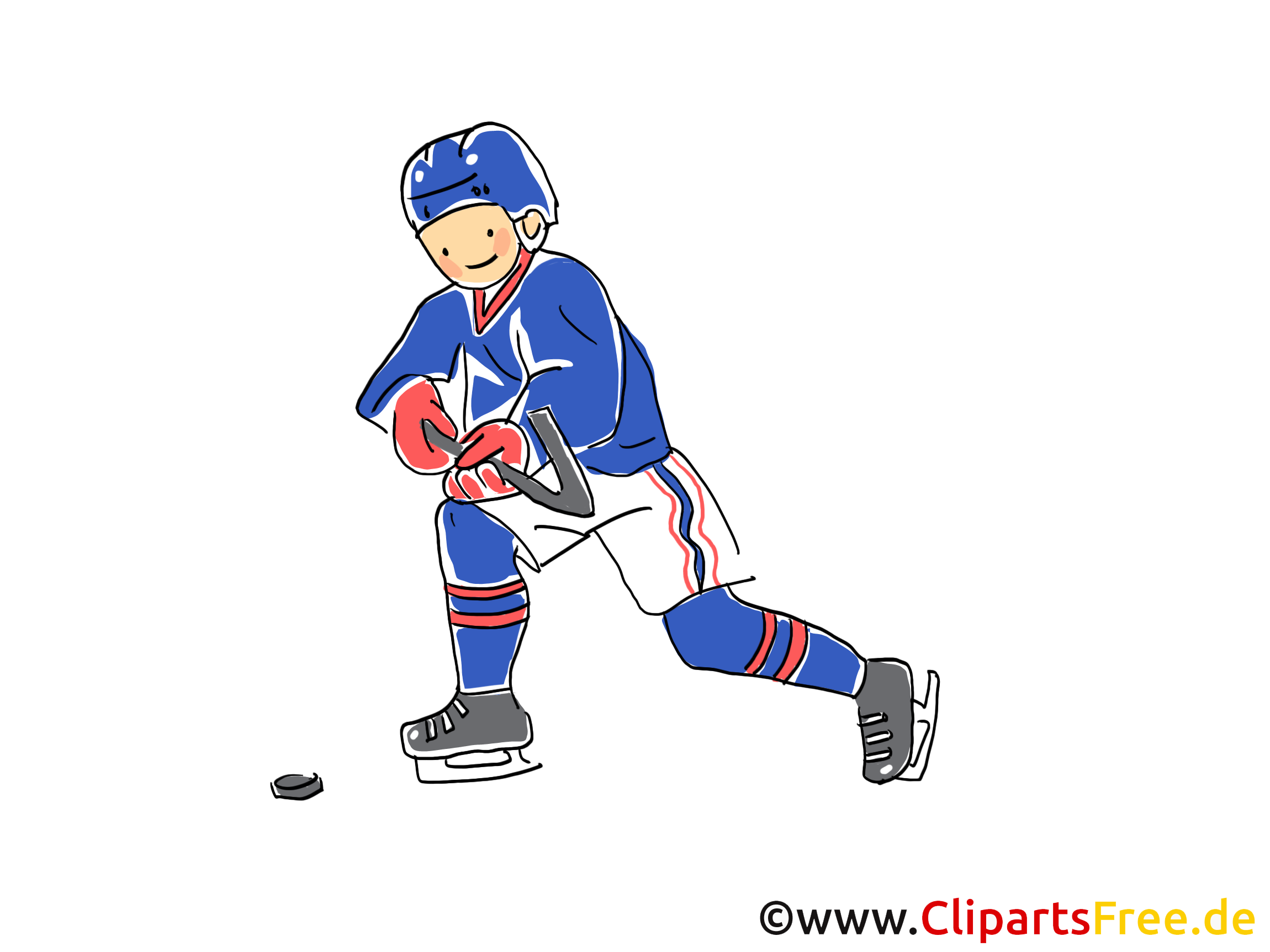 Sport d'hiver clip arts gratuits - Hockey illustrations