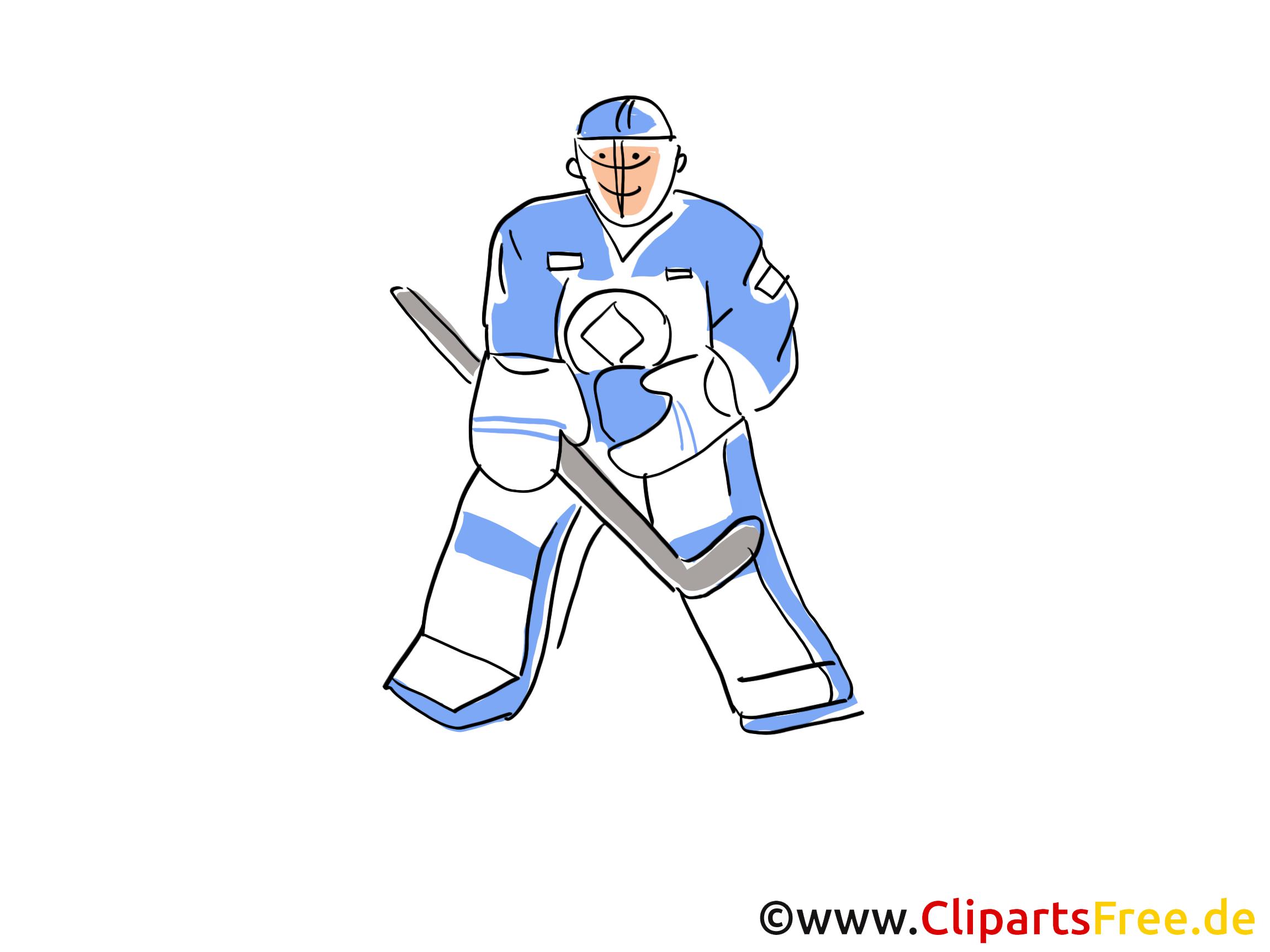 Sport d'hiver images - Hockey dessins gratuits