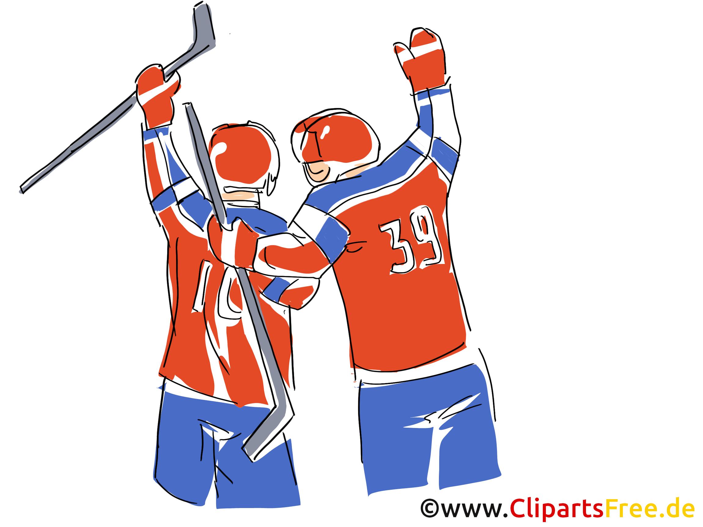 Victoire image gratuite - Hockey illustration
