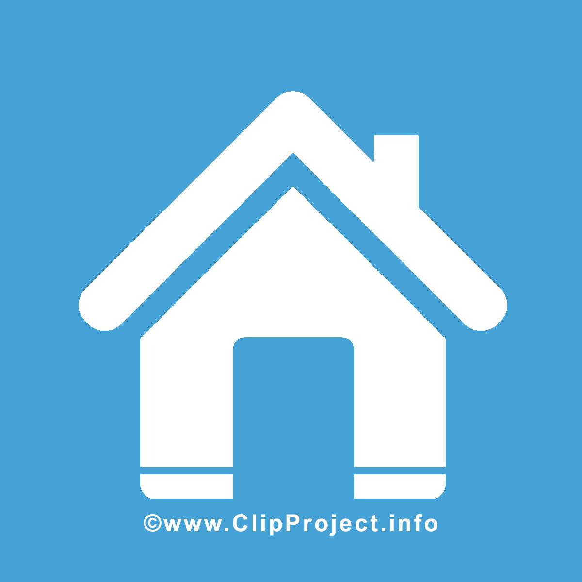 Bleu maison clip art gratuit – Icône images