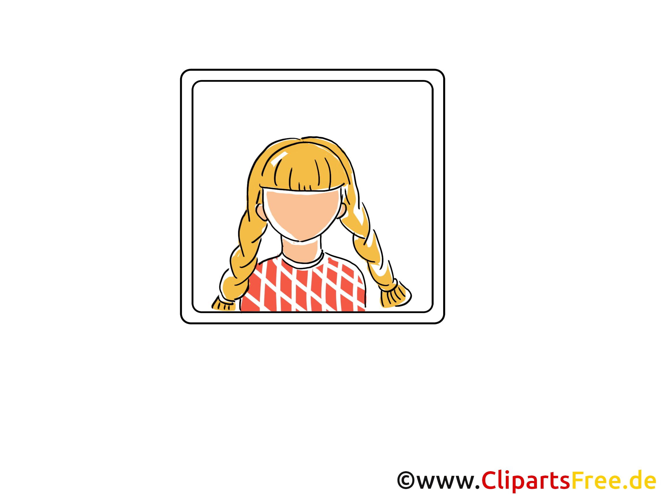 Femme sans visage clip art gratuit - Icône dessin