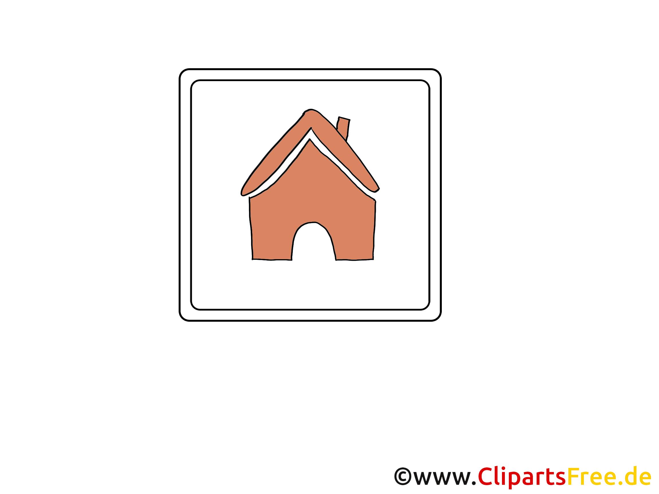 Maison image gratuite – Icône clipart