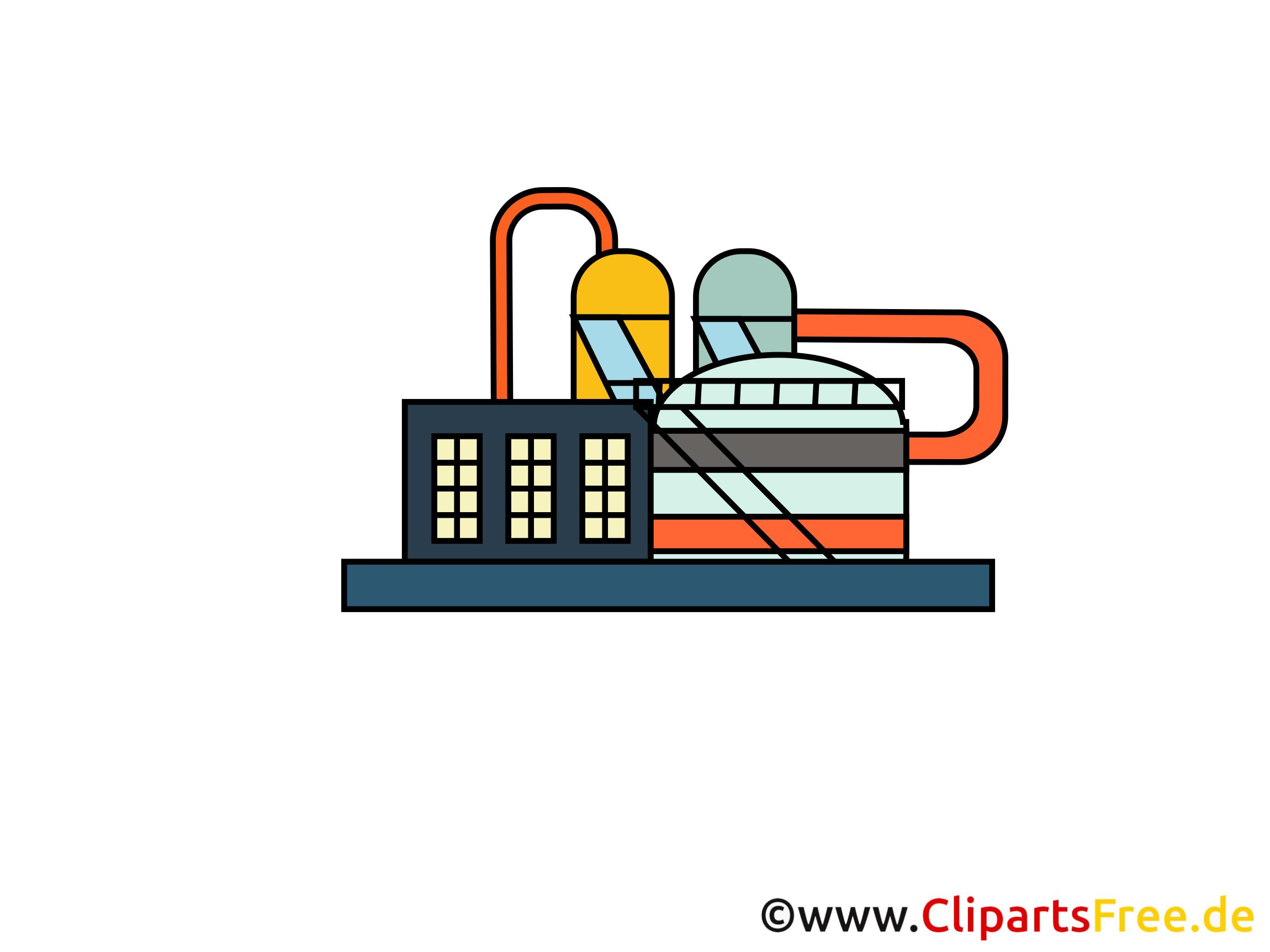 Dessin raffinerie - Industrie clip arts gratuits