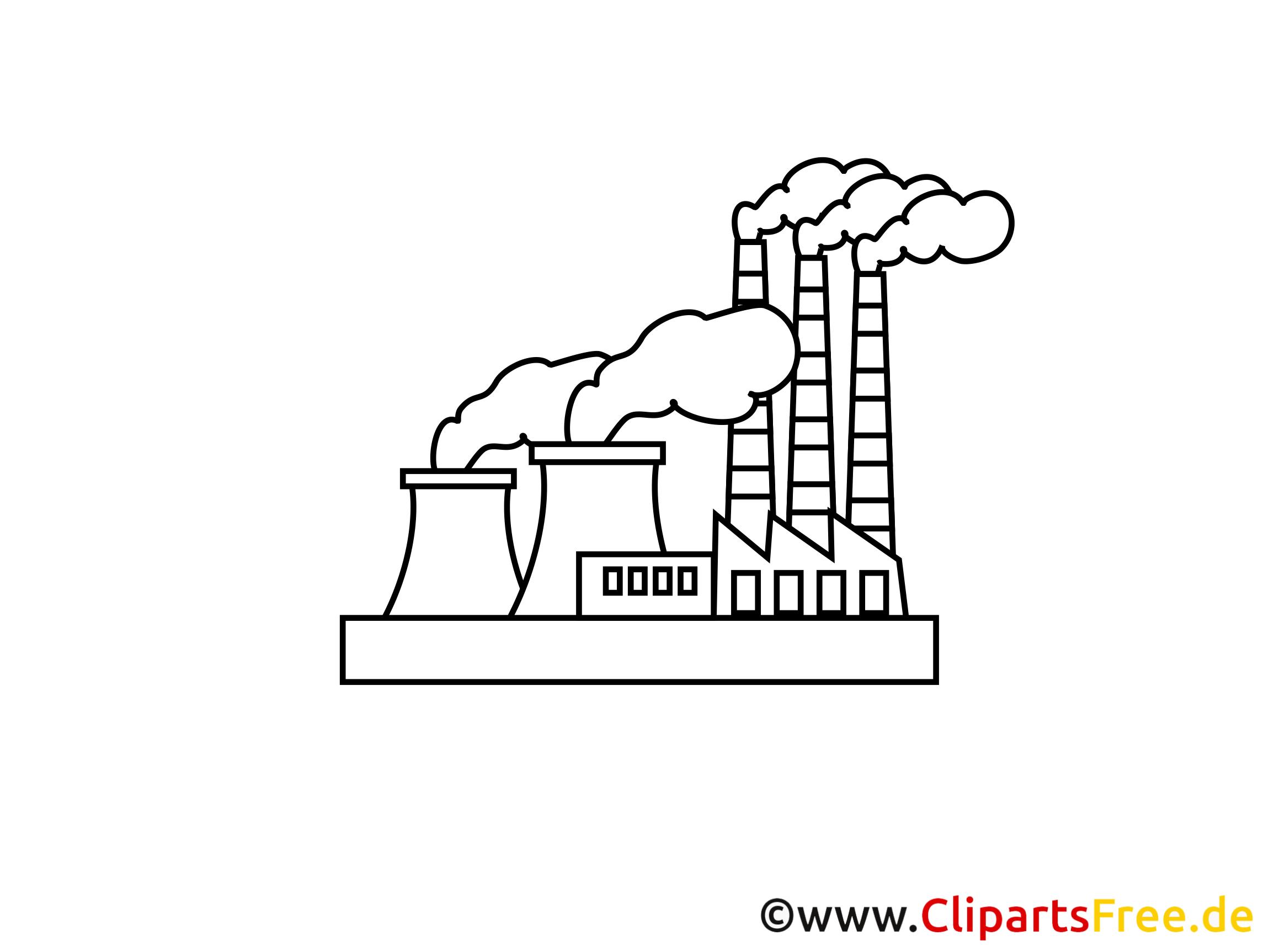 Industrie illustration à colorier gratuite