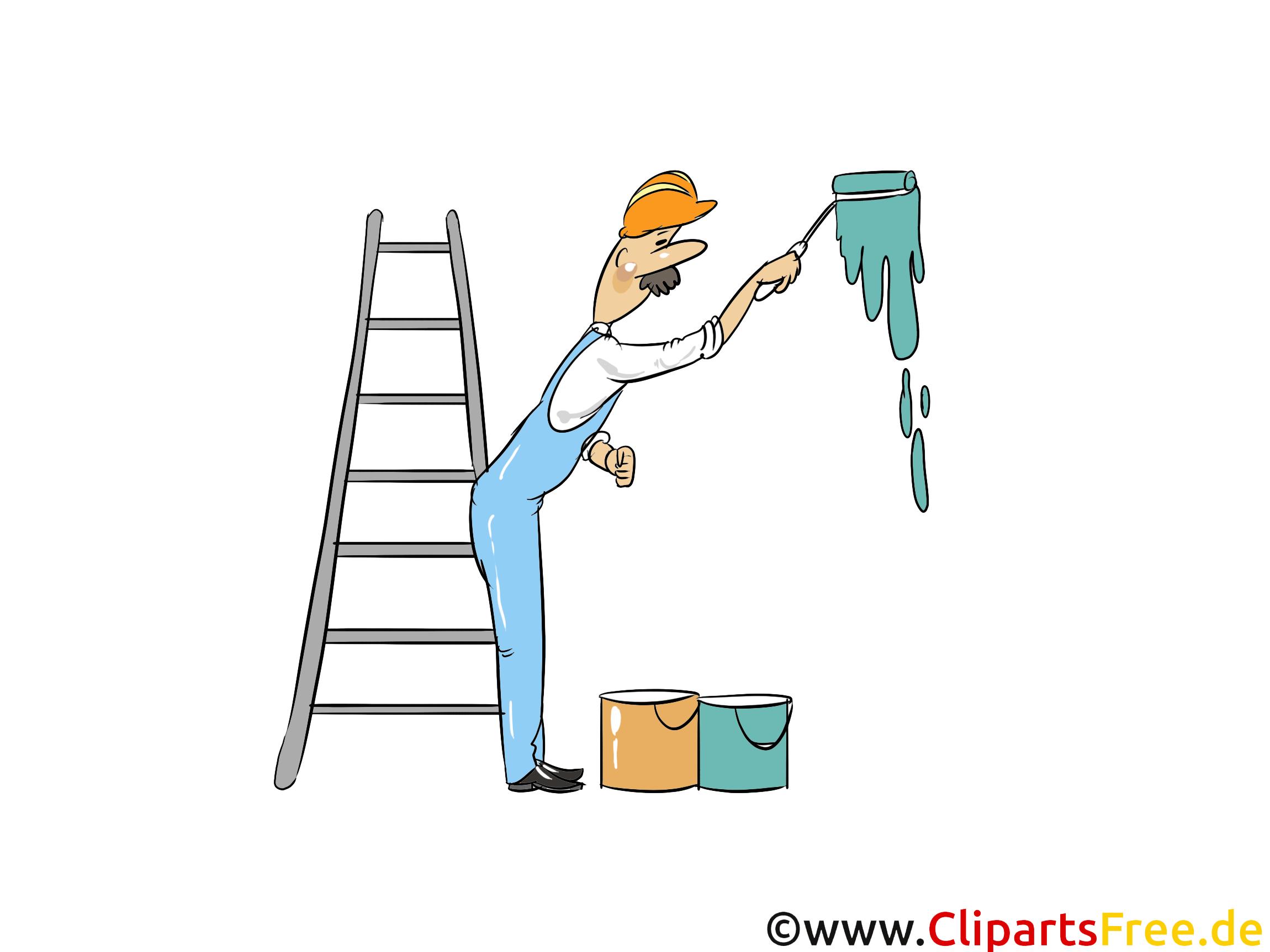 Peintre de bâtiments image – Industrie clipart