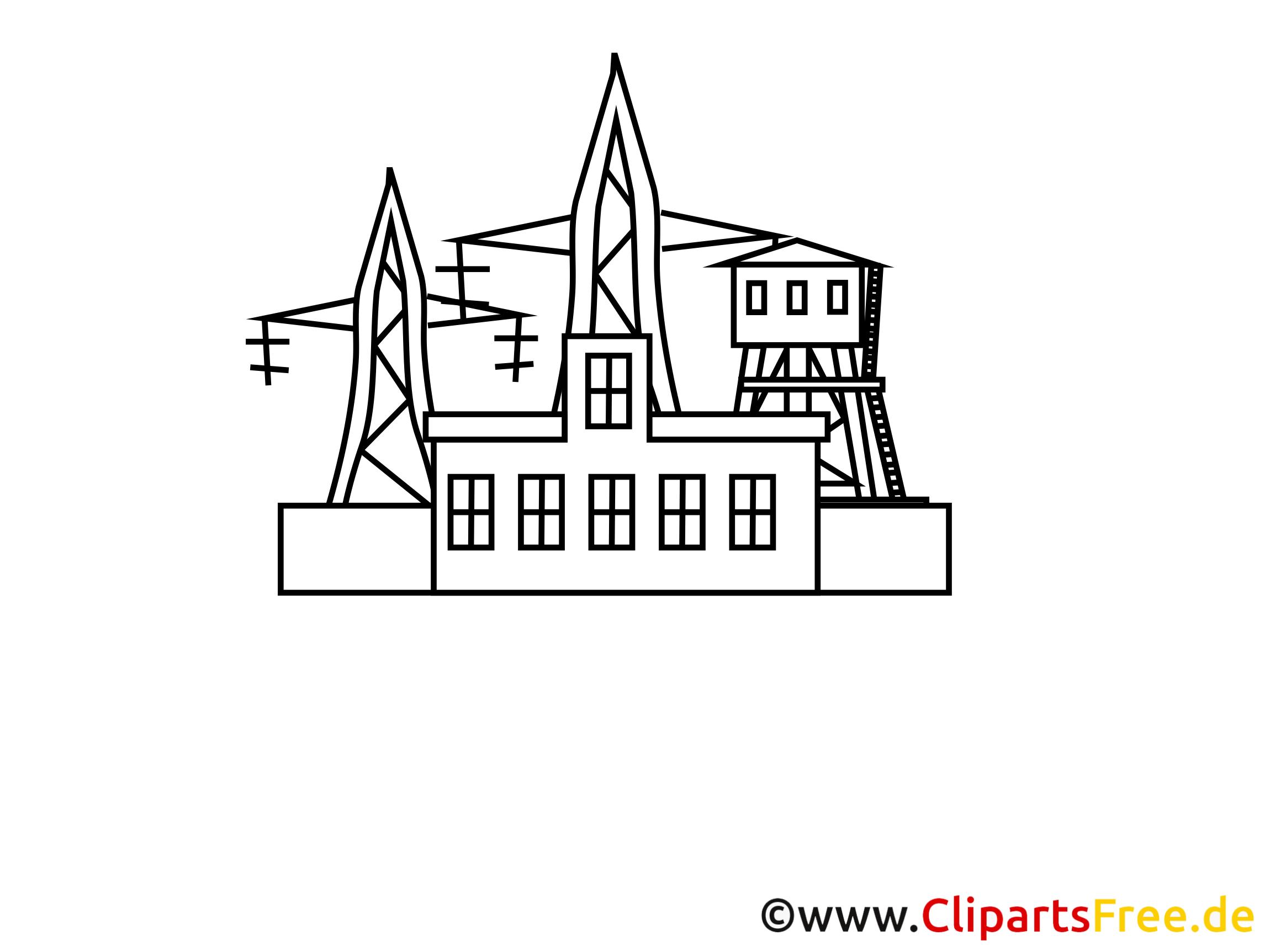 Station électrique coloriage - Industrie dessins gratuits