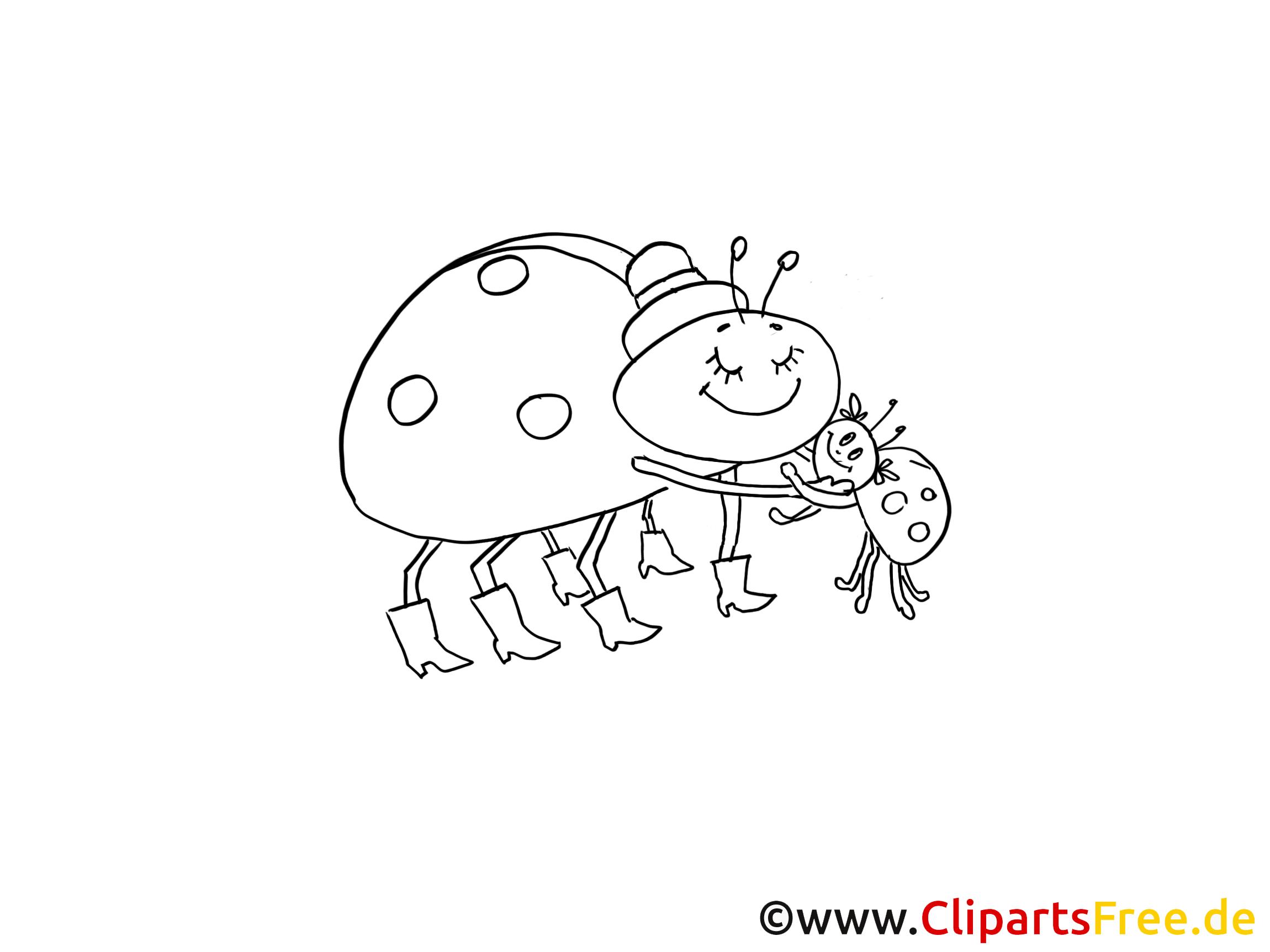 Insects illustration à colorier - images gratuites