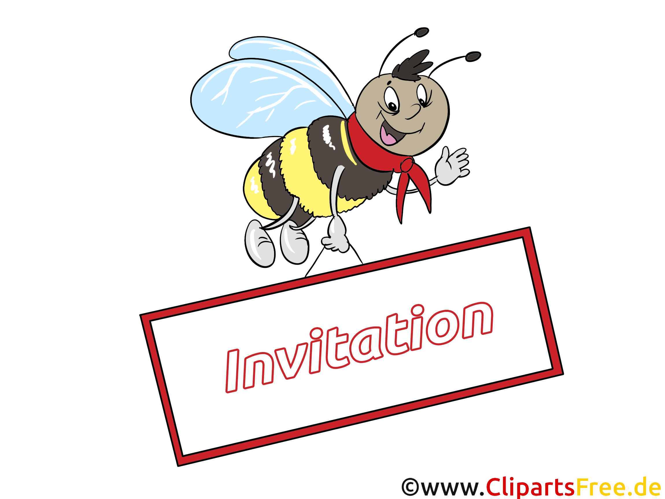 Abeille image - Invitation images cliparts