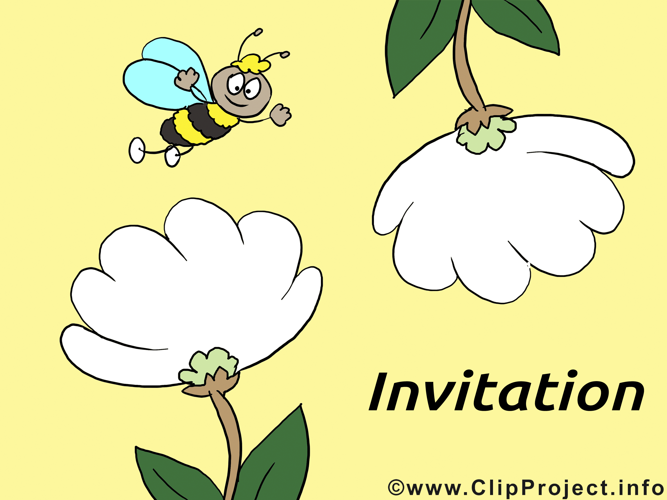 Abeille image gratuite - Invitation illustration