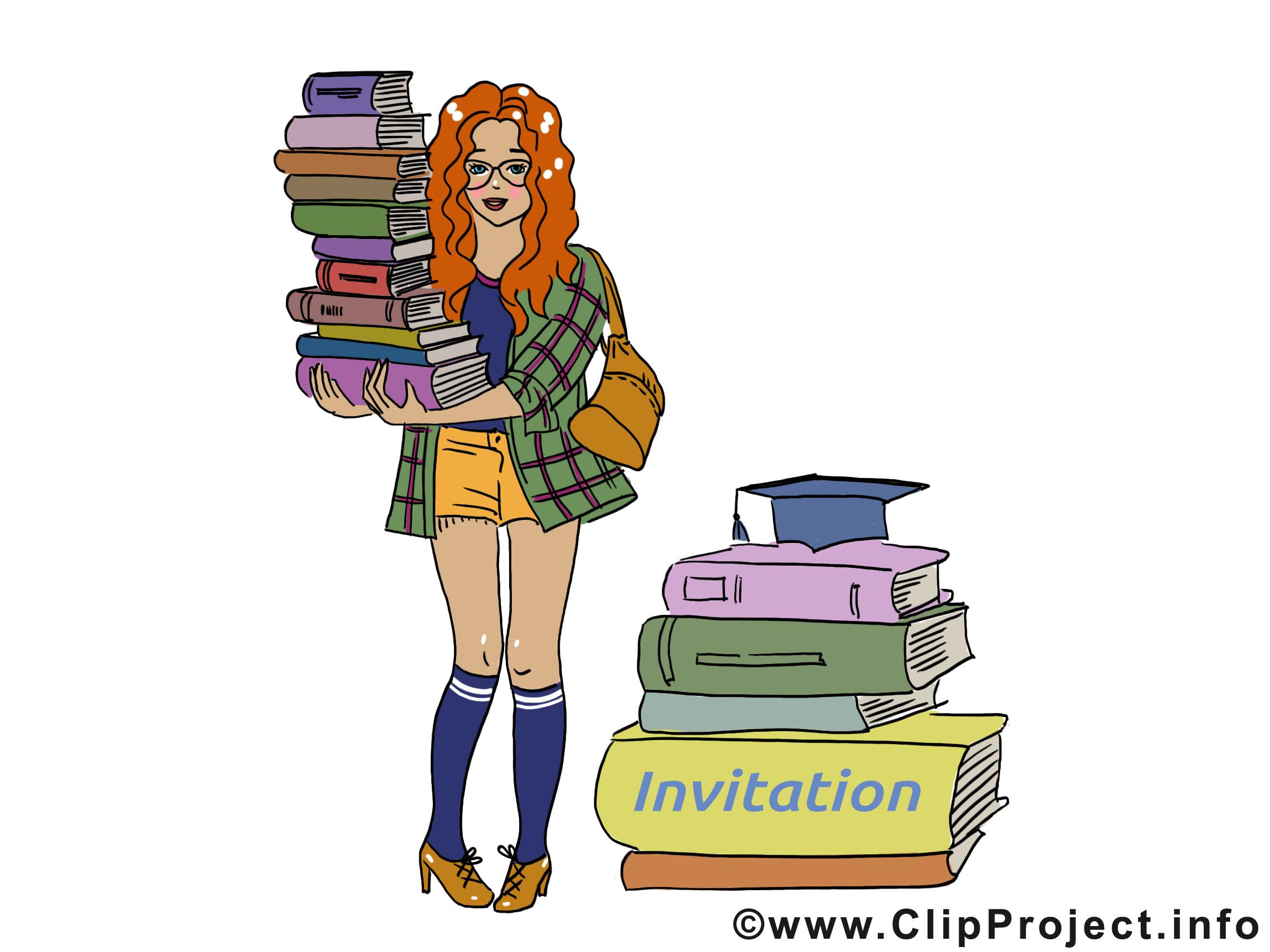 Bibliothécaire images gratuites – Invitation clipart