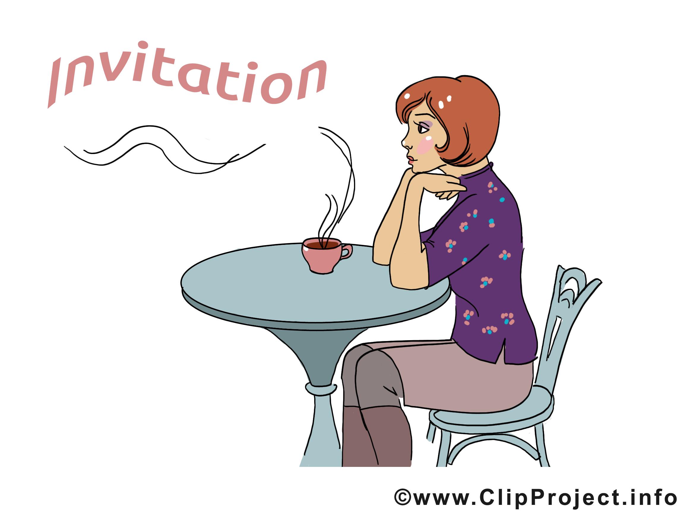 Café image à télécharger - Invitation clipart