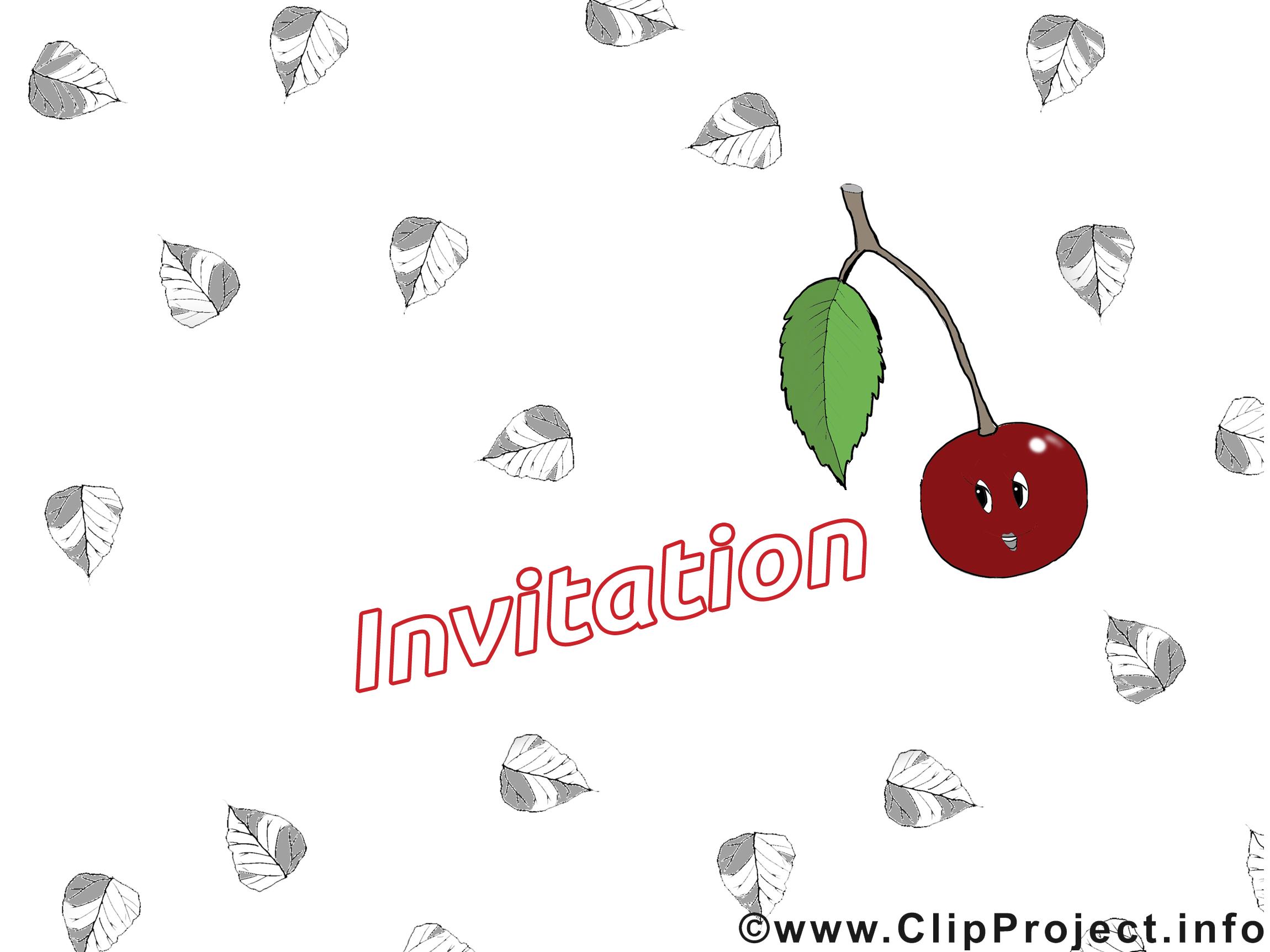 Cerise image gratuite - Invitation cliparts
