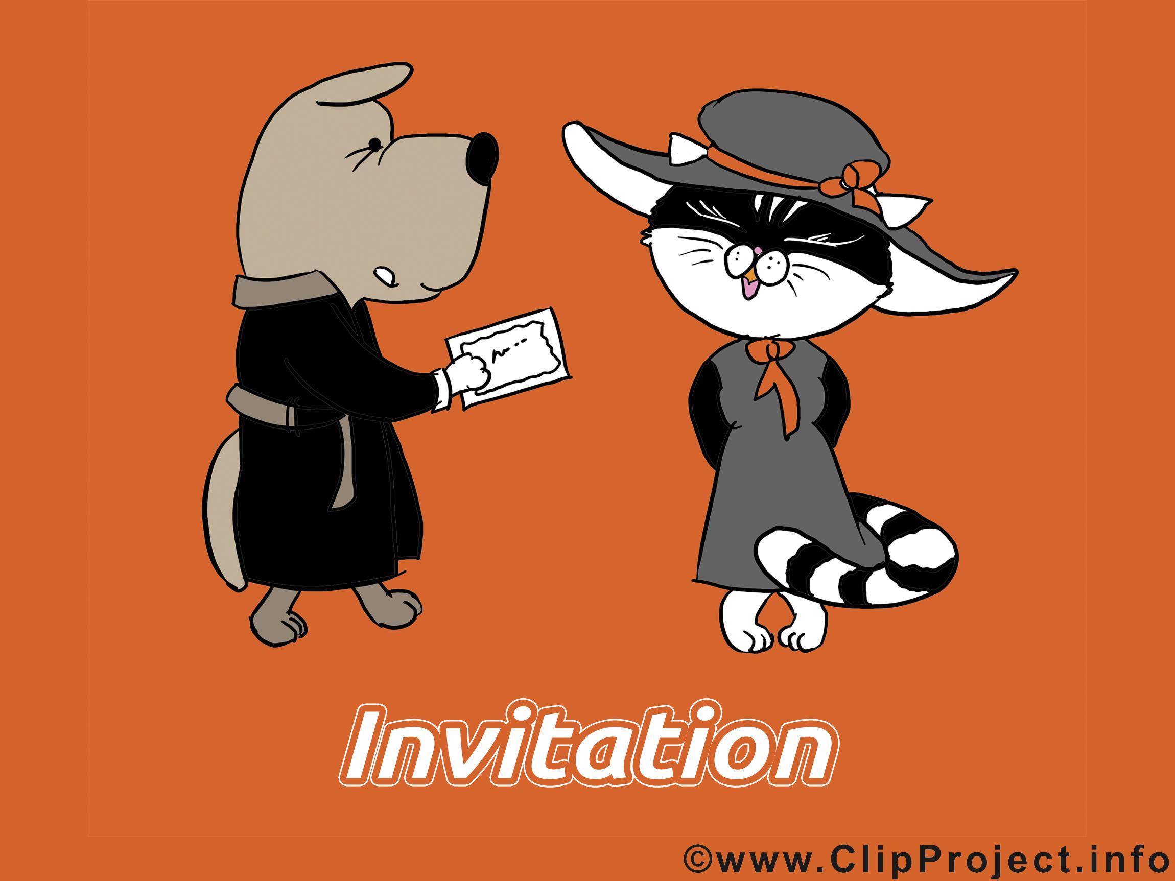 Chien chat cliparts gratuis - Invitation images