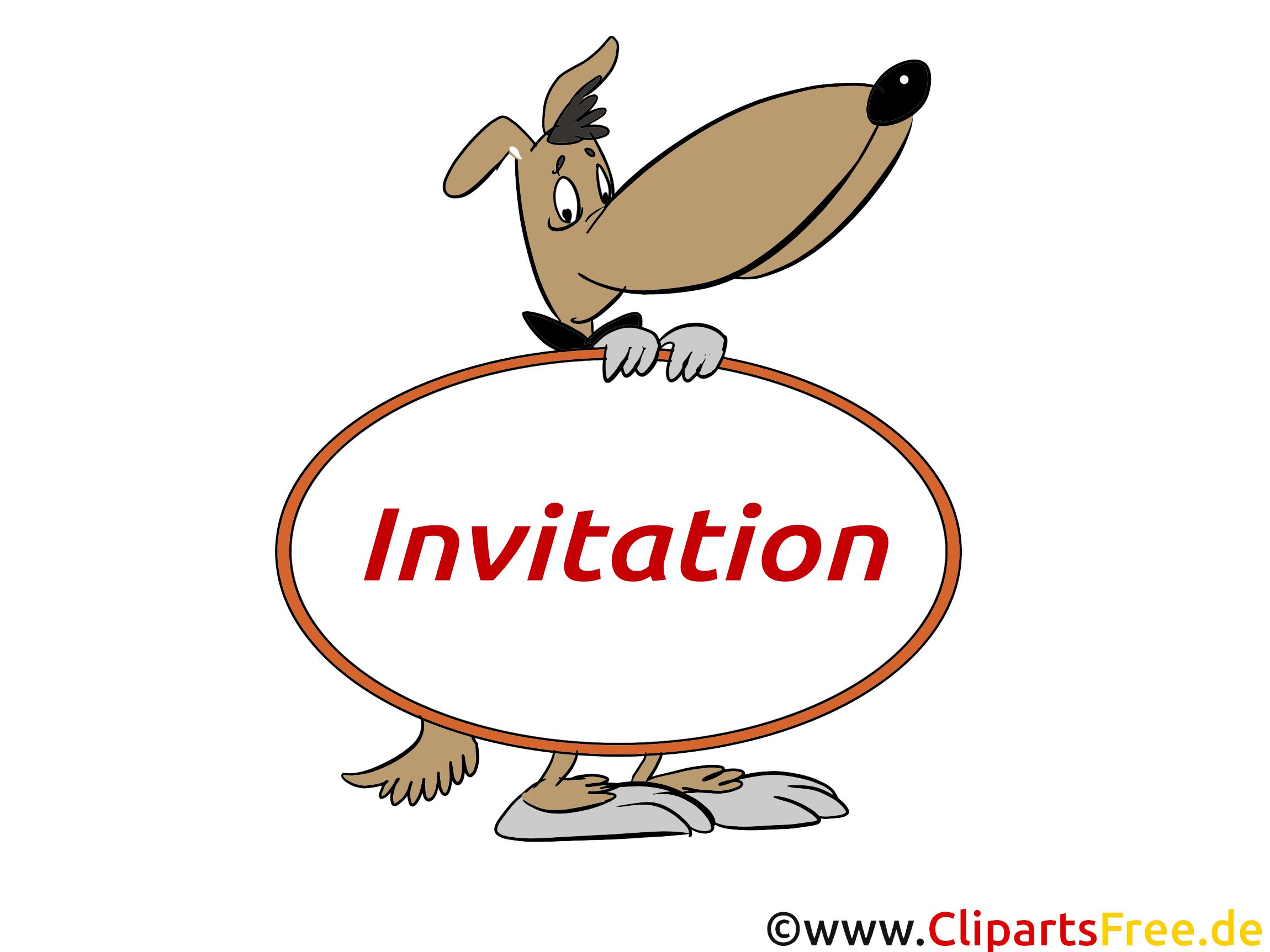 Chien clipart gratuit invitation images invitations dessin picture image graphic clip - Dessin invitation ...