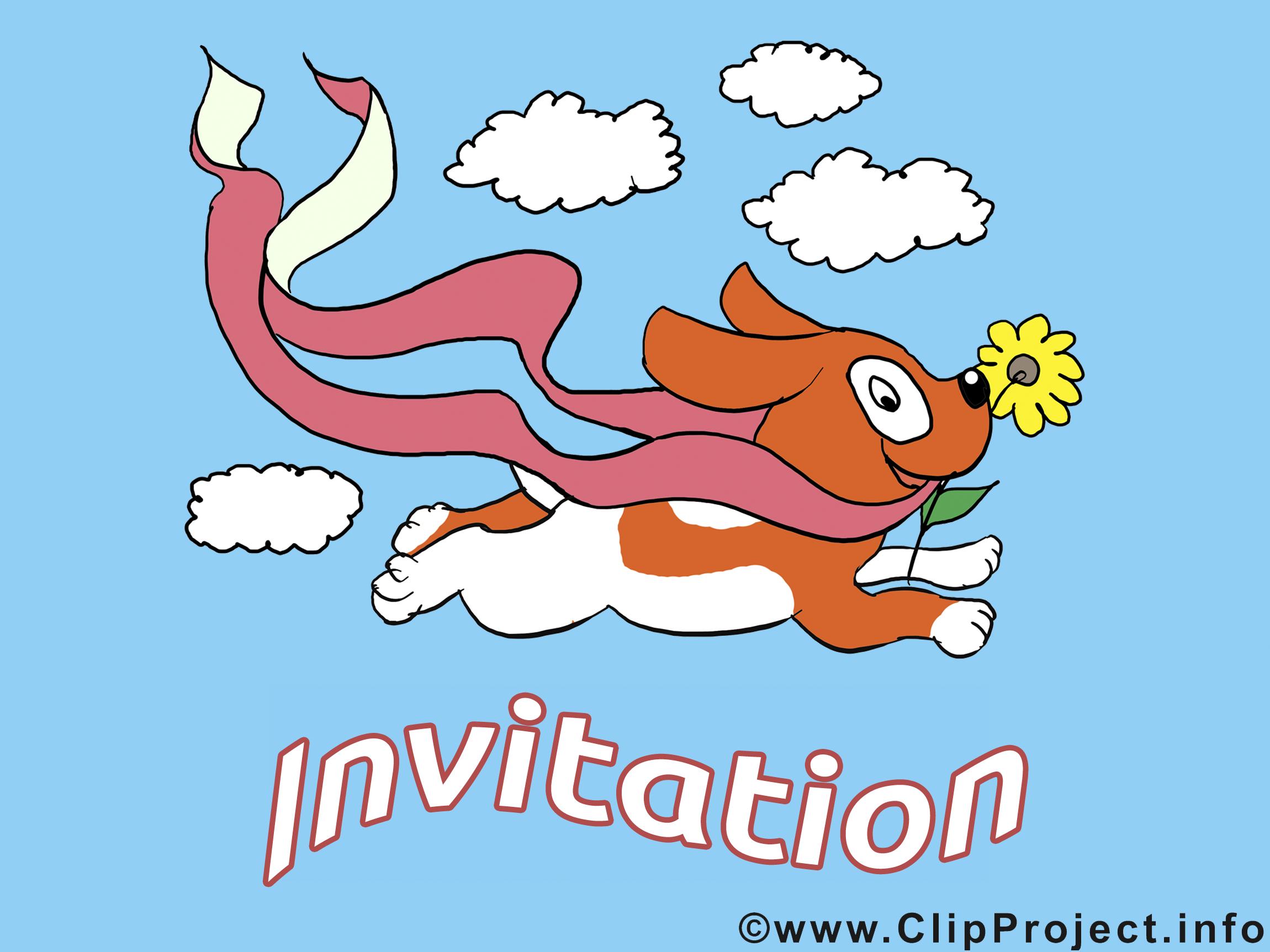 Chien images - Invitation clip art gratuit