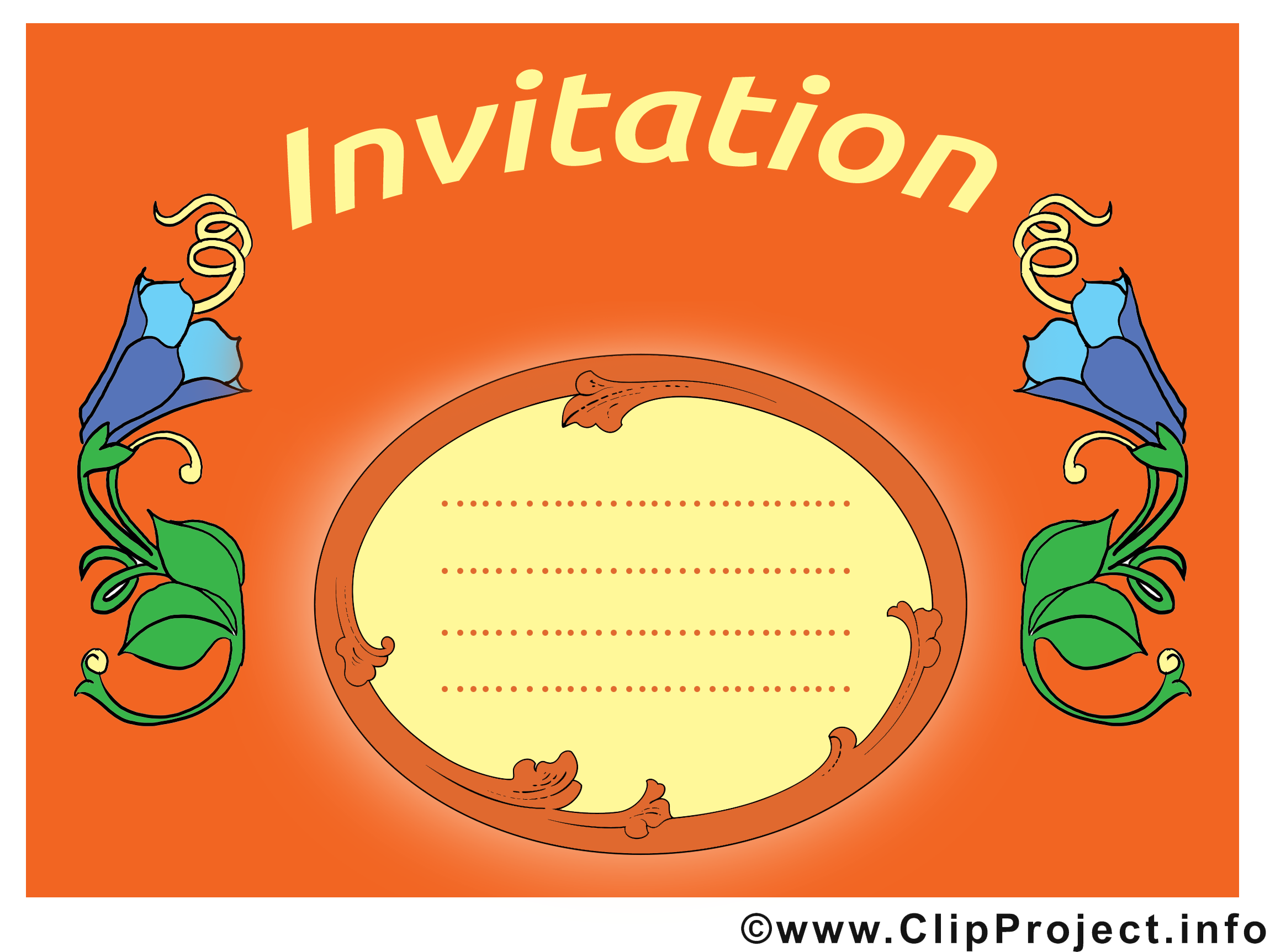 Clochettes illustration - Invitation images