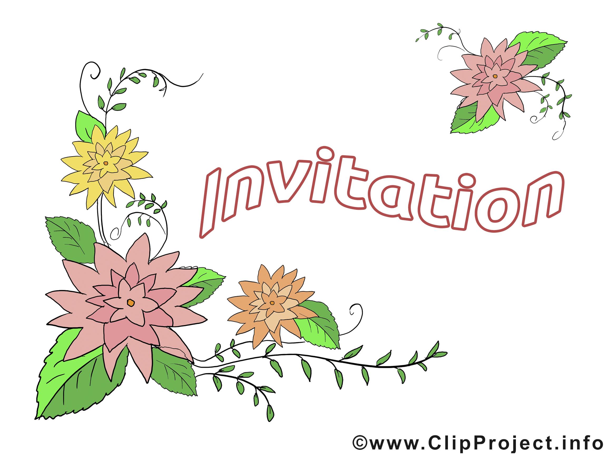 Dessin à télécharger fleurs - Invitation images