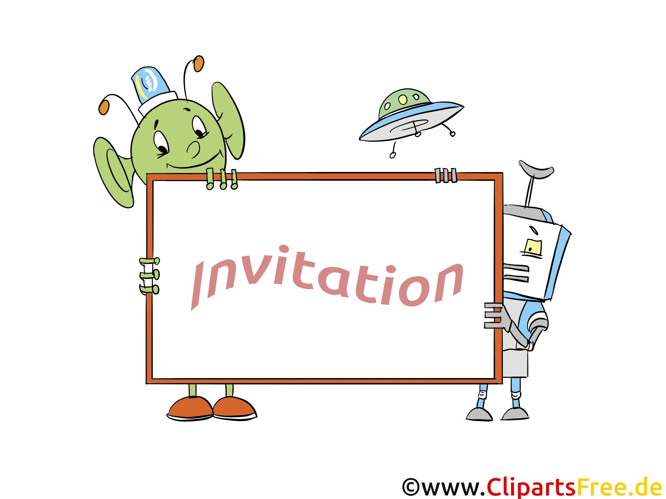 Extraterrestre cliparts gratuis - Invitation images