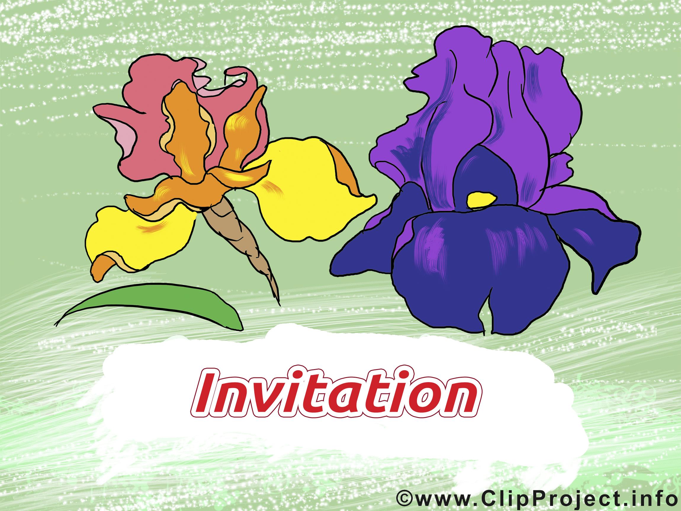Fleurs image gratuite – Invitation clipart