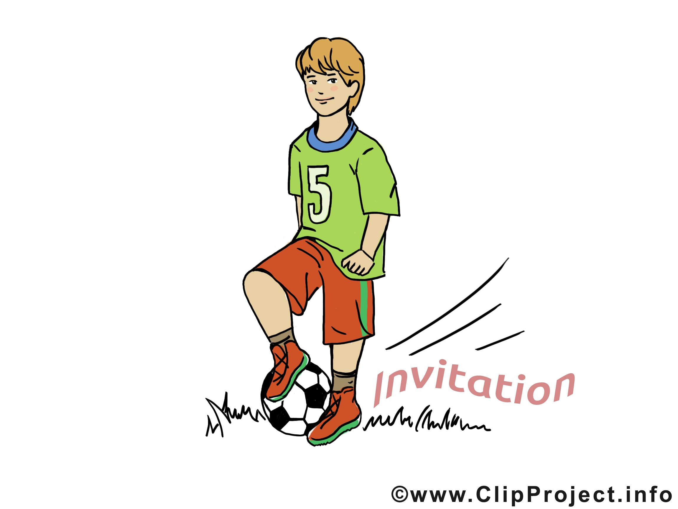 Footballeur Invitation image à télécharger gratuite