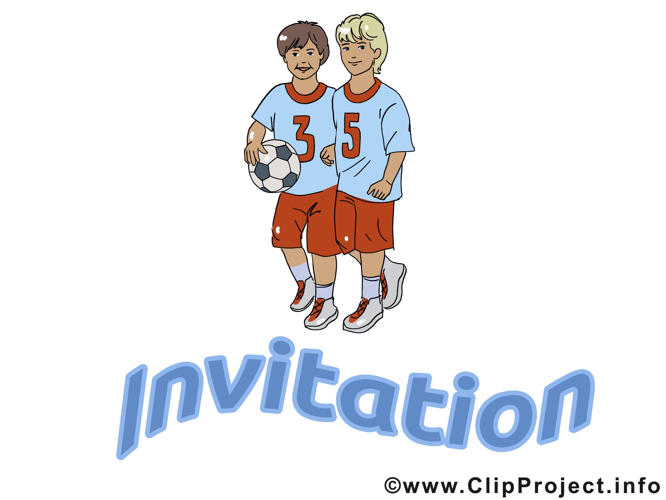 Footballeurs clip art gratuit – Invitation images
